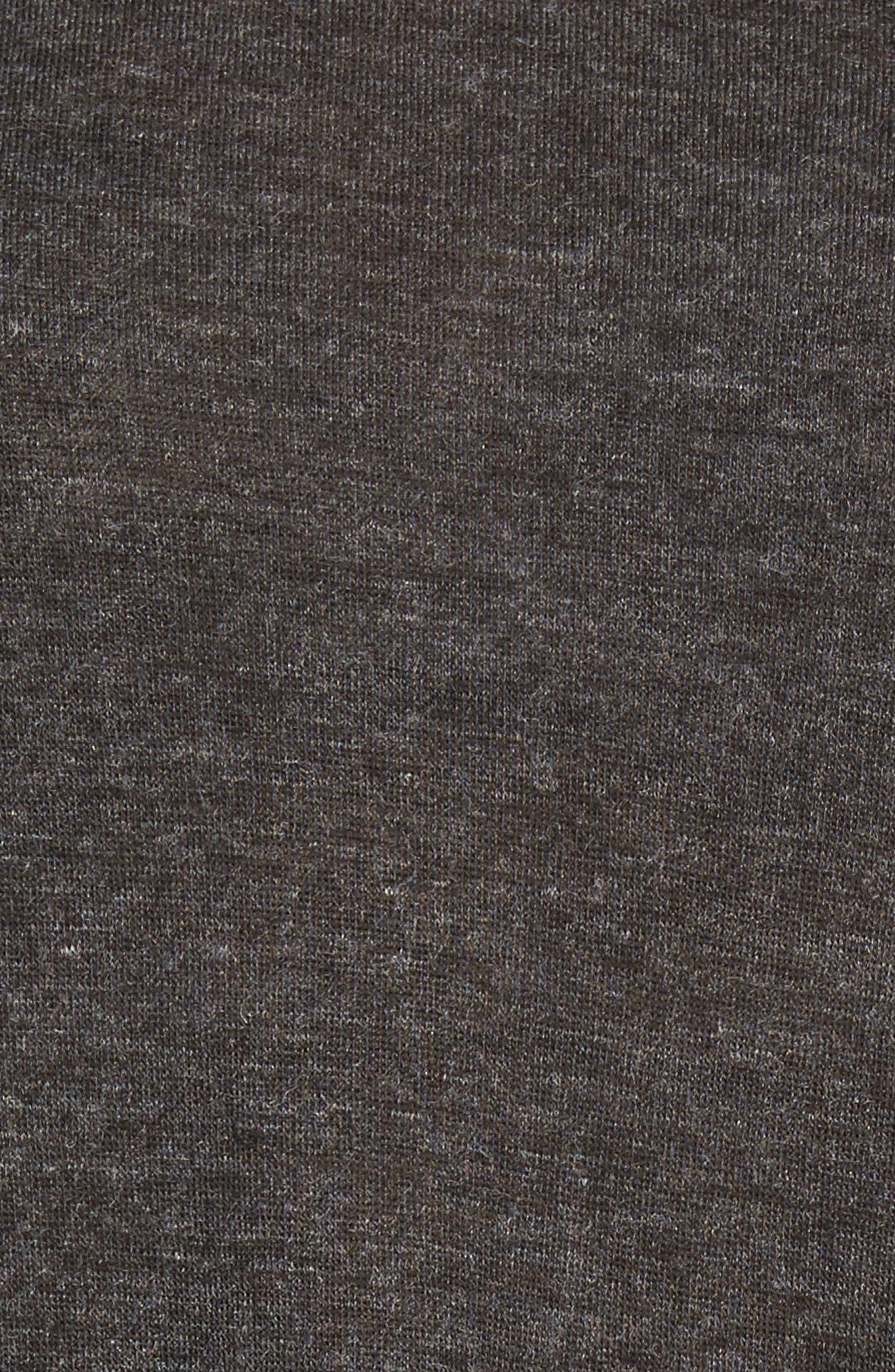 High/Low Tunic Sweatshirt,                             Alternate thumbnail 5, color,                             001