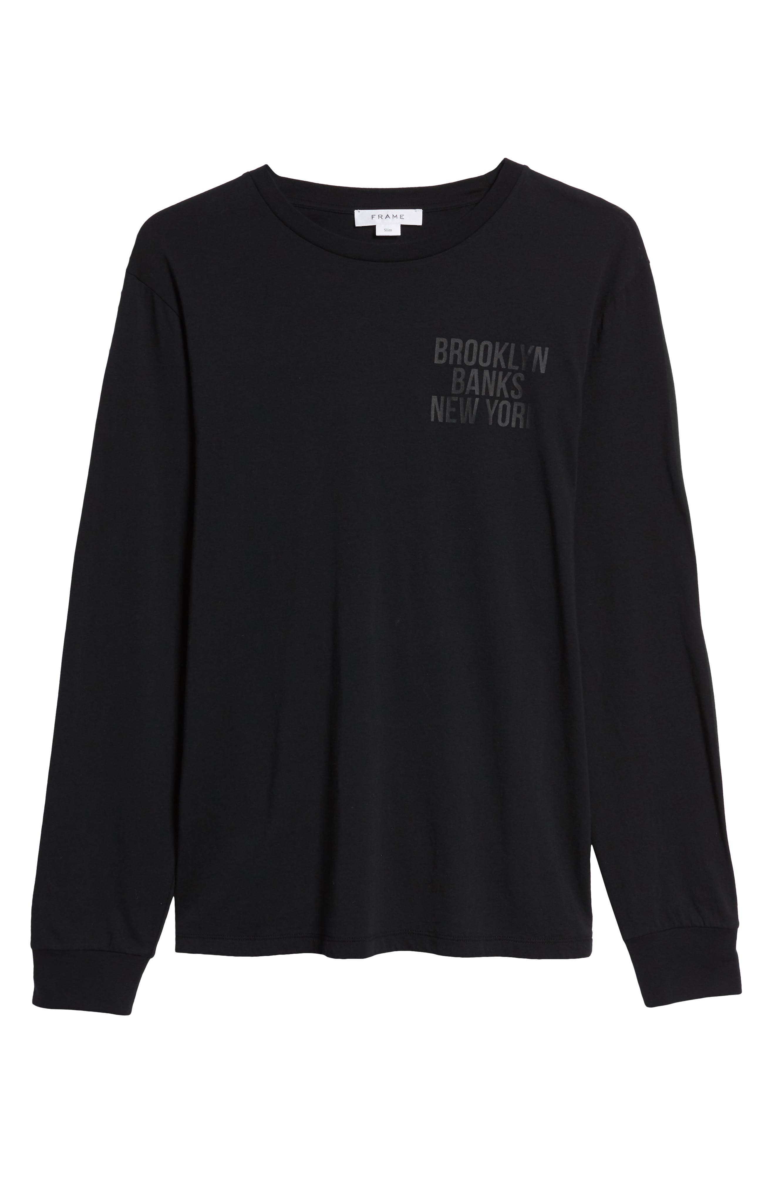 Brooklyn Banks Long Sleeve T-Shirt,                             Alternate thumbnail 6, color,                             BLACK