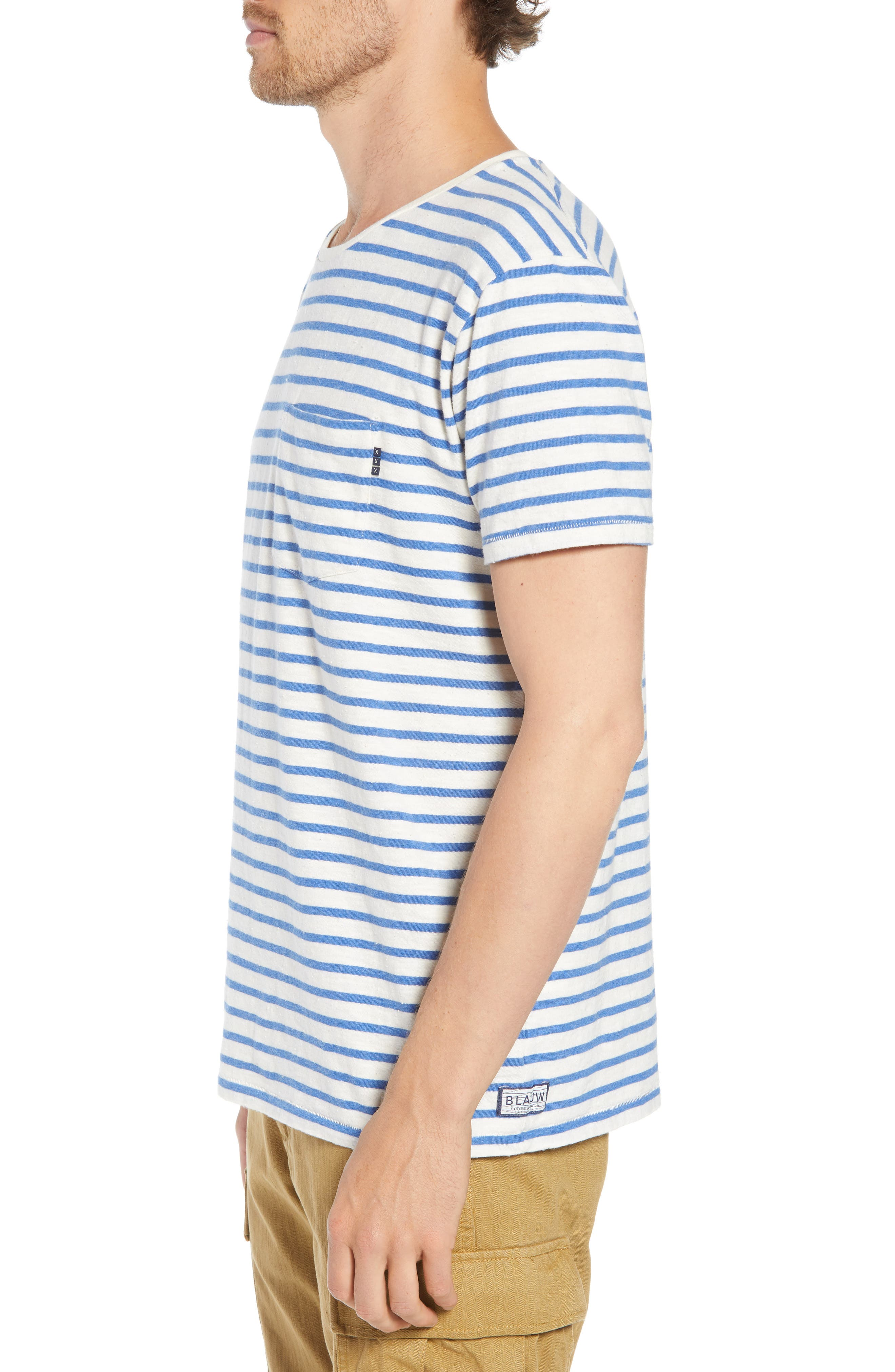 Stripe Pocket T-Shirt,                             Alternate thumbnail 3, color,                             110