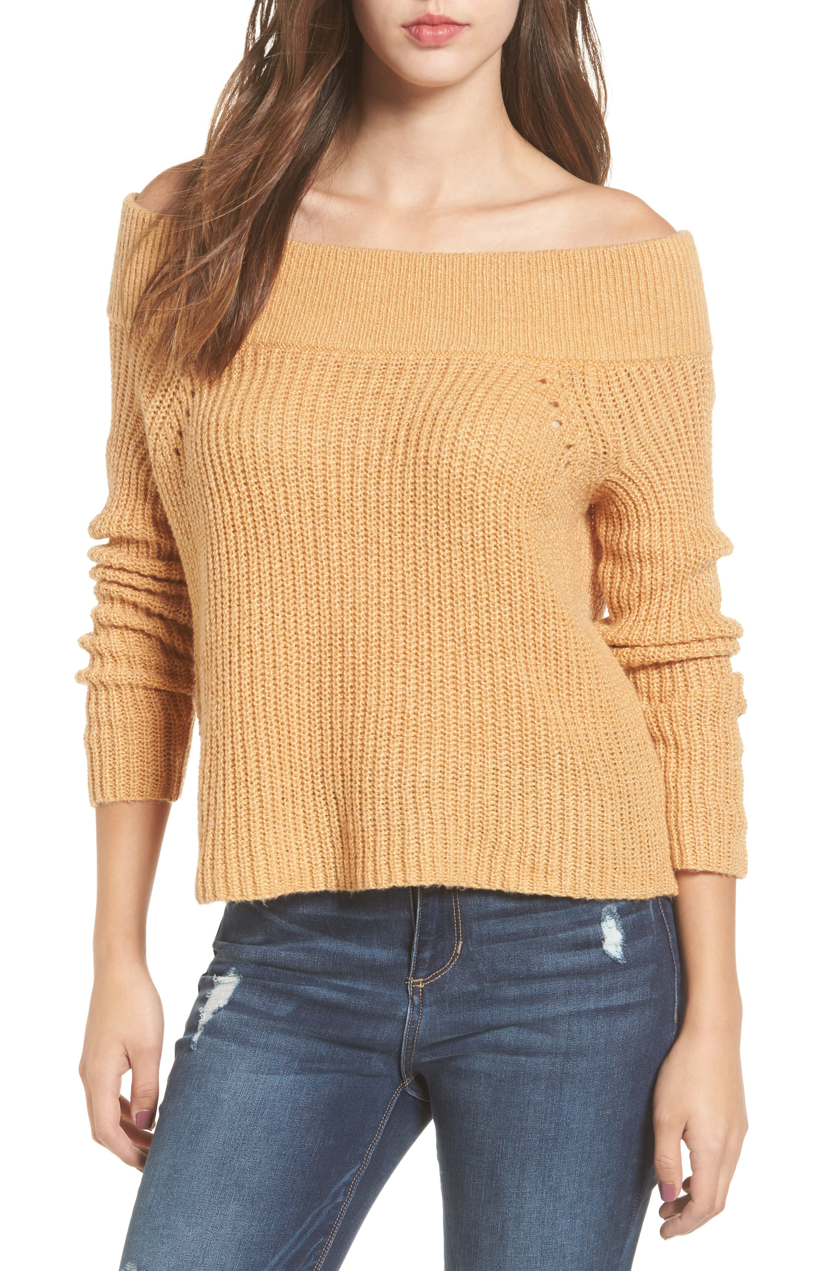 Lofty Off the Shoulder Pullover,                             Main thumbnail 1, color,                             235