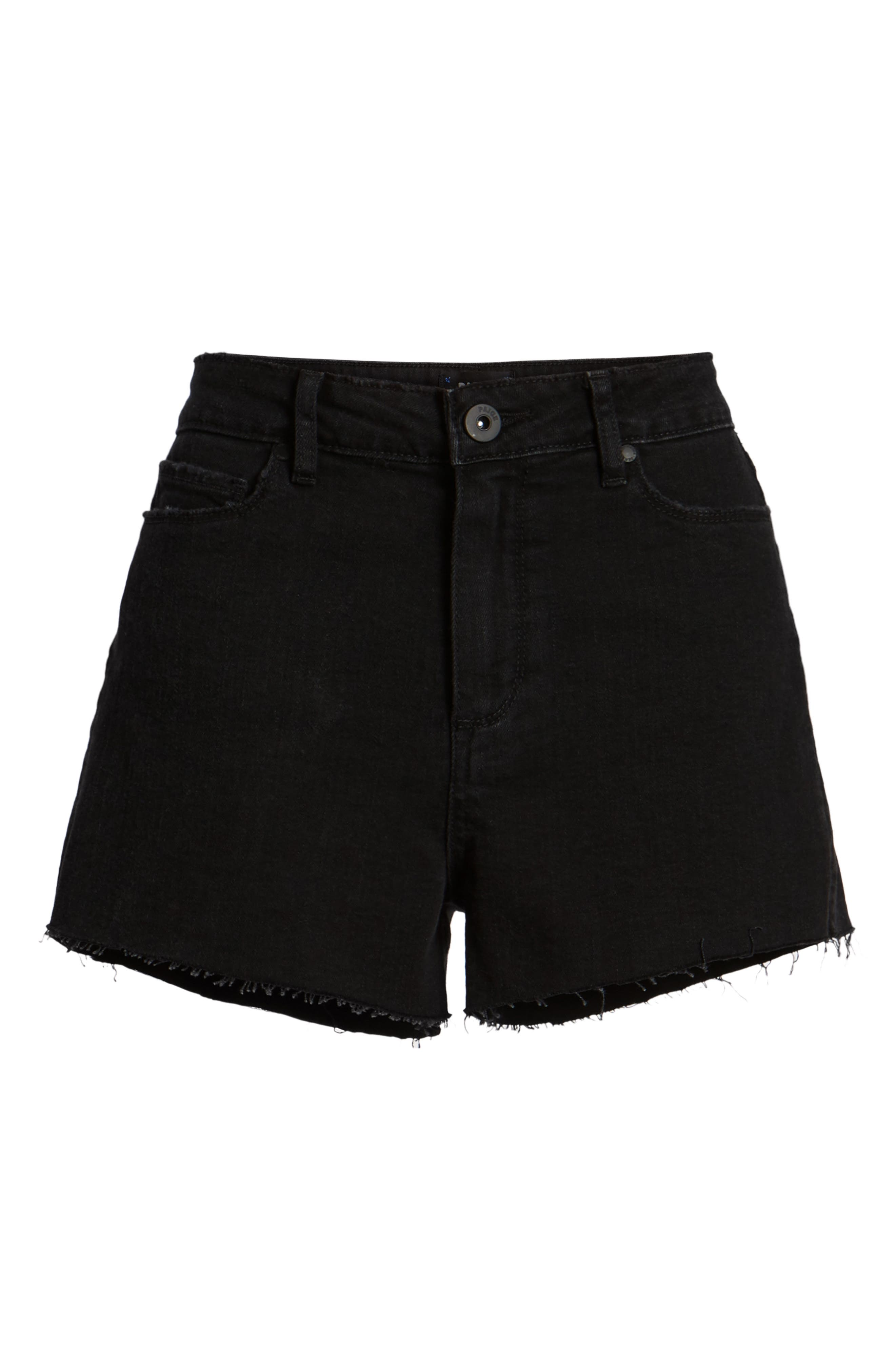 'Margot' High Rise Cutoff Denim Shorts,                             Alternate thumbnail 6, color,                             001