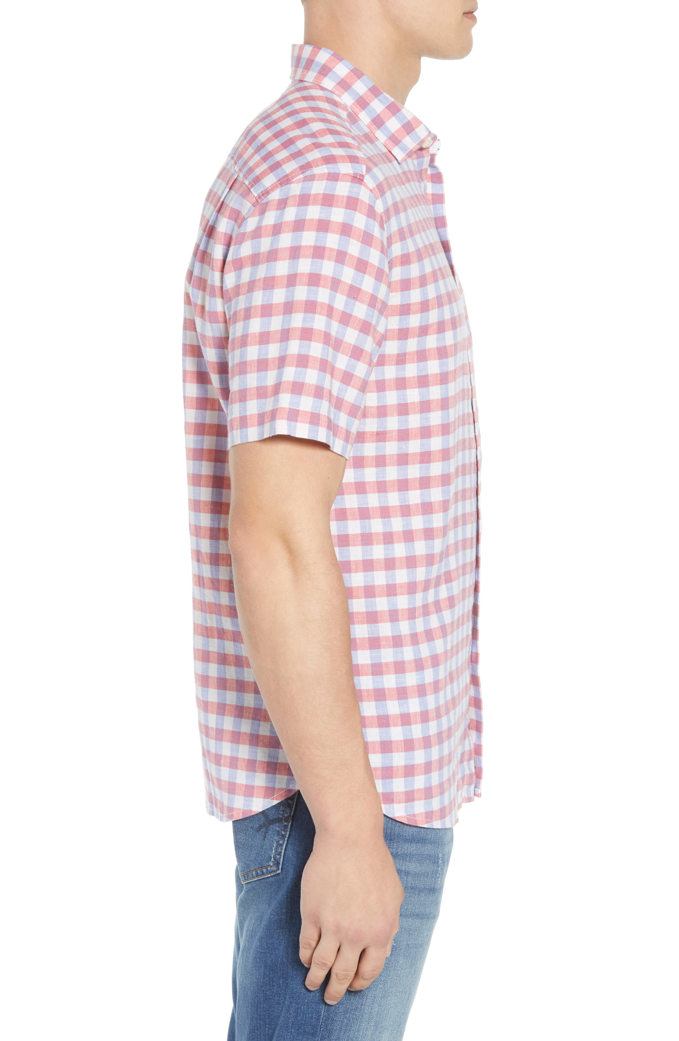 Diego Fronds Check Sport Shirt,                             Alternate thumbnail 3, color,                             200