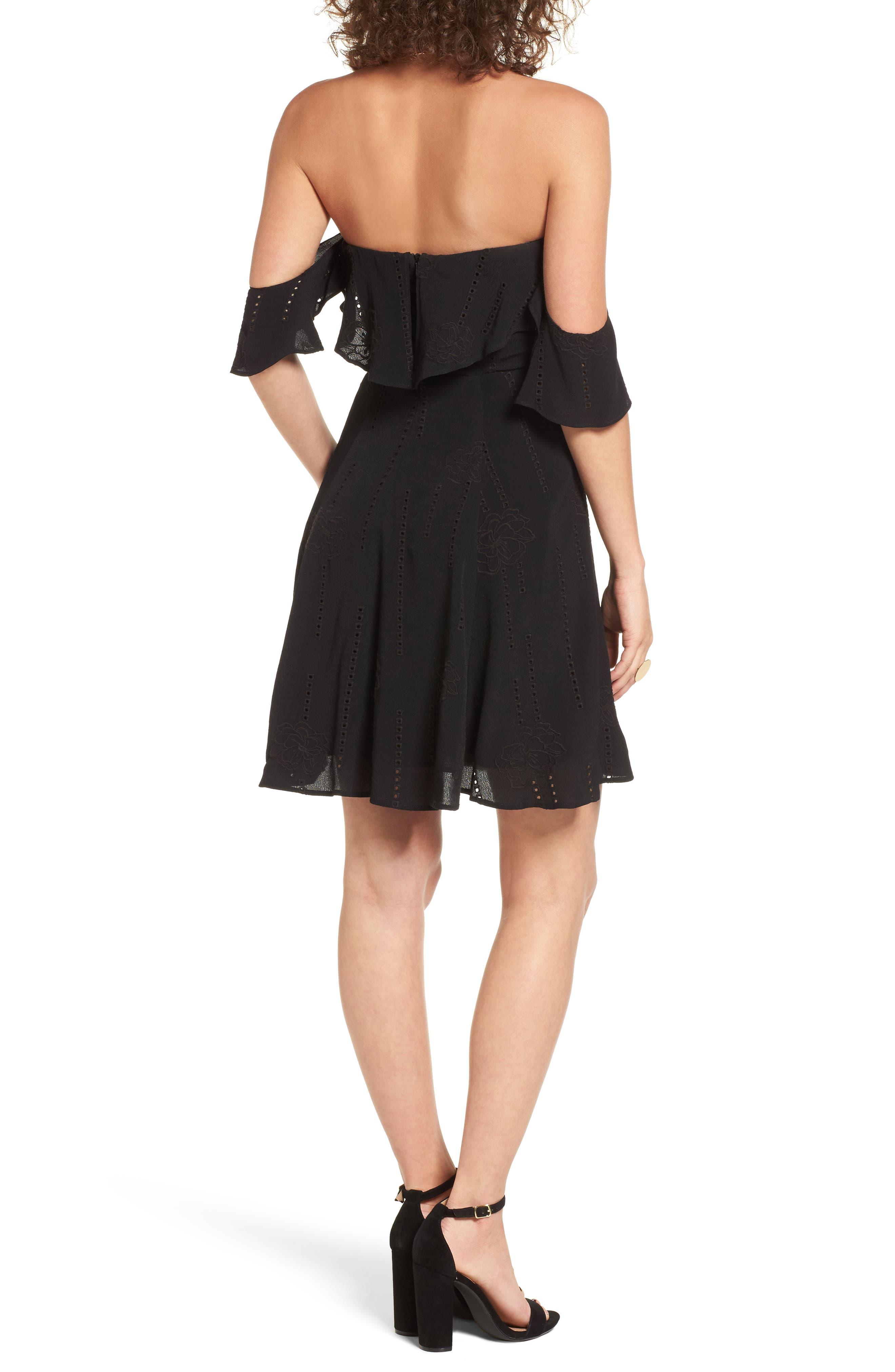 Sabina A-Line Dress,                             Alternate thumbnail 2, color,                             001