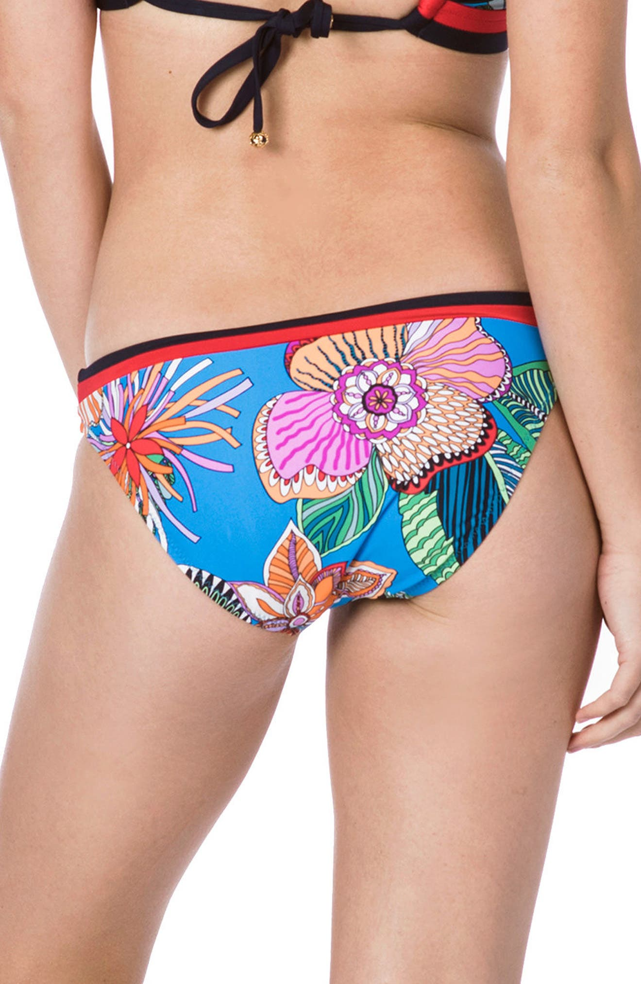 Tahiti Tropical Hipster Bikini Bottoms,                             Alternate thumbnail 2, color,                             BLUE MULTI