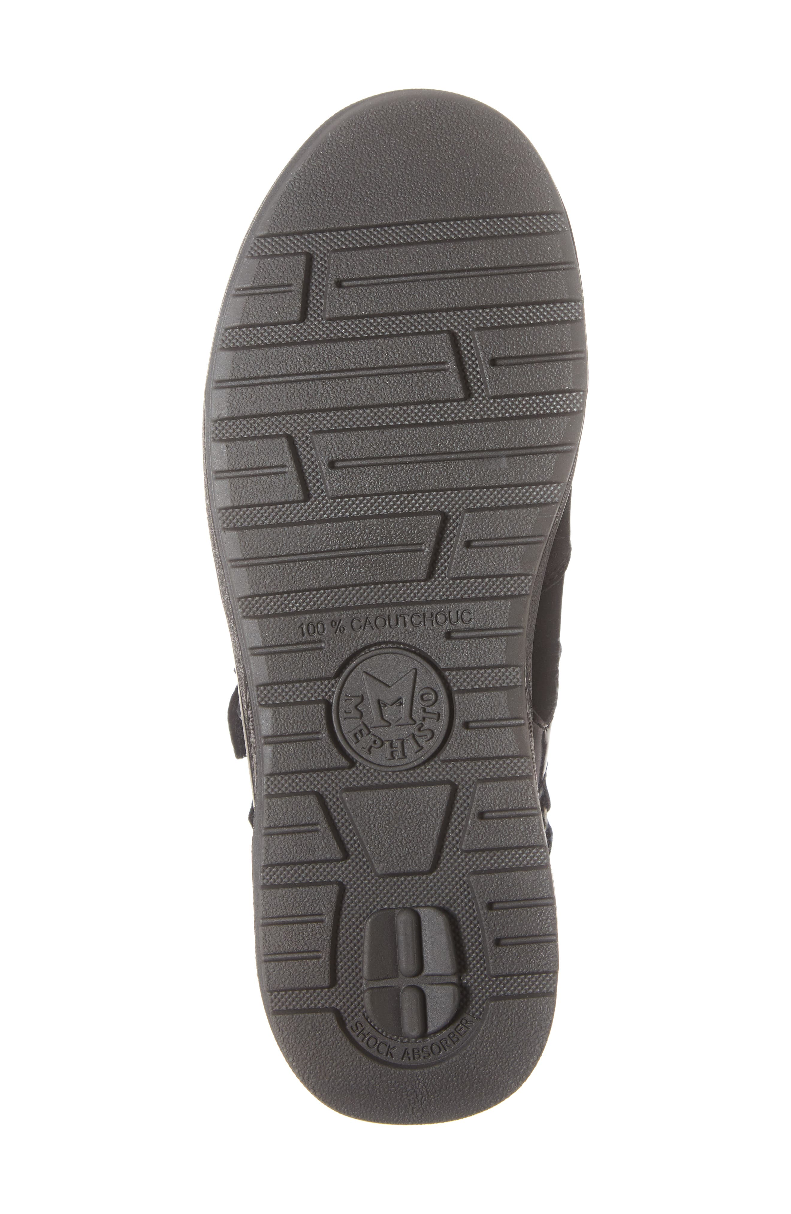MEPHISTO,                             Rejine Sneaker,                             Alternate thumbnail 6, color,                             BLACK FABRIC