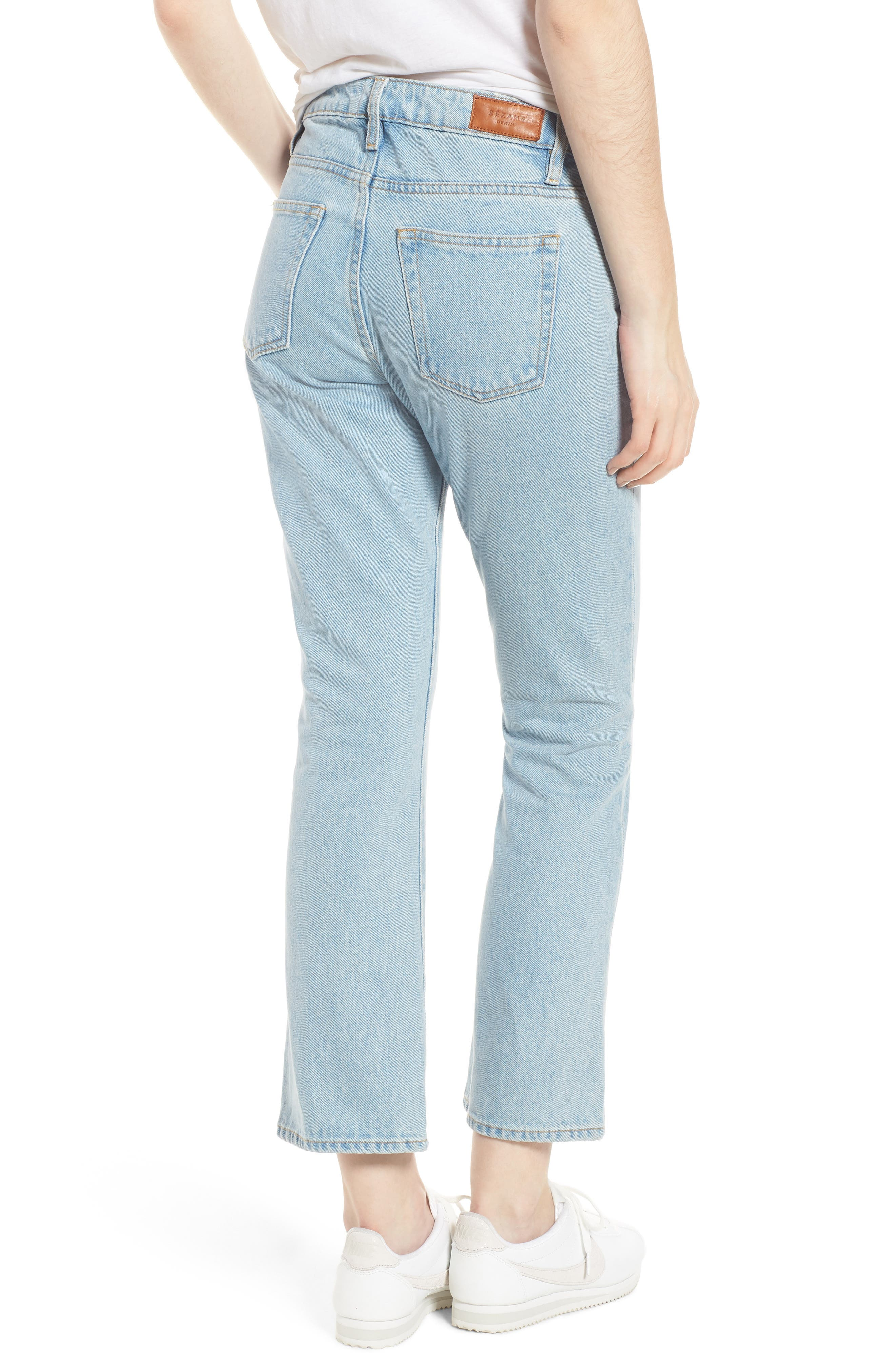 1970 The Flared Crop Jeans,                             Alternate thumbnail 6, color,