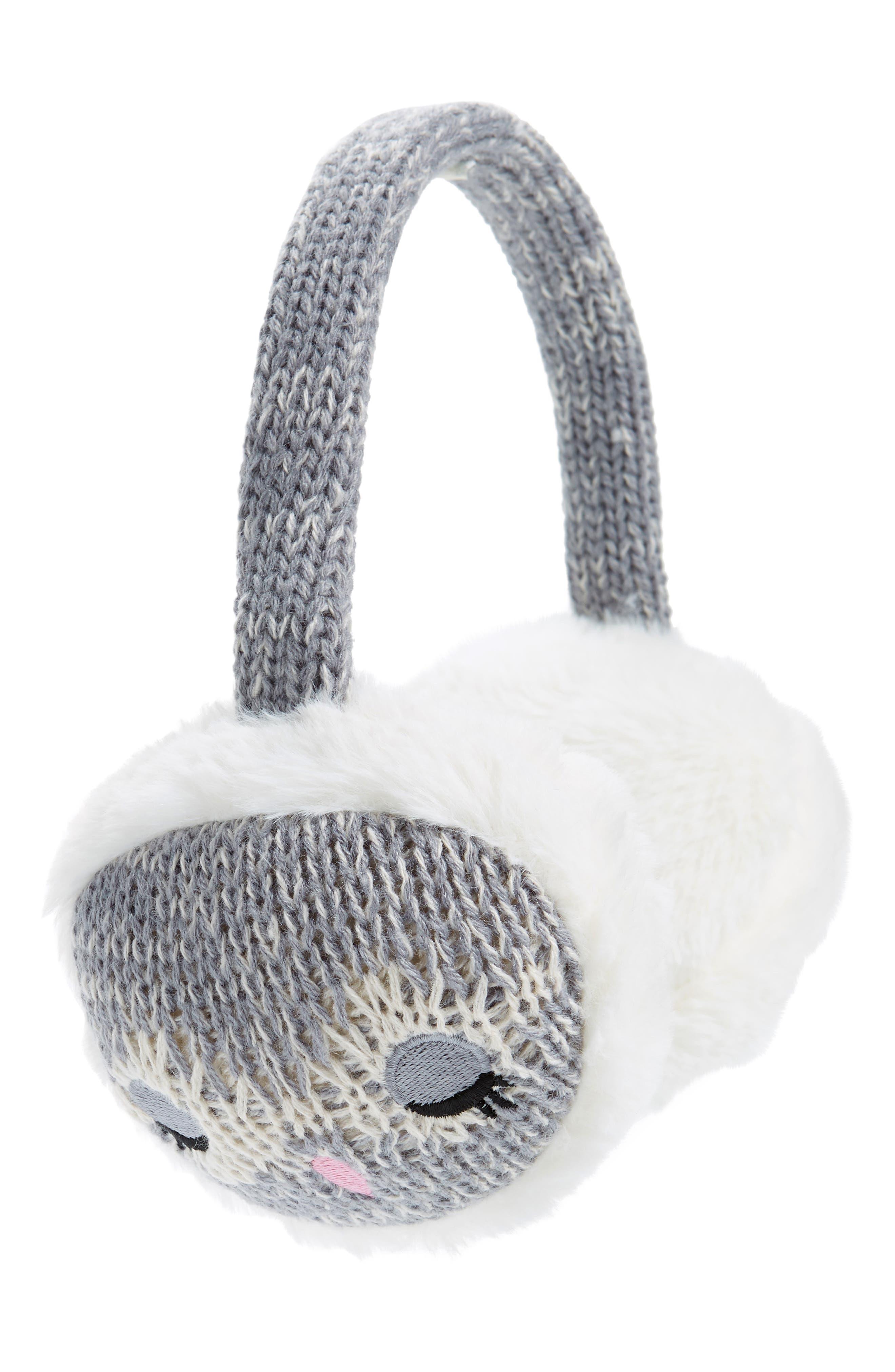 Girls Tucker  Tate Owl Faux Fur Earmuffs