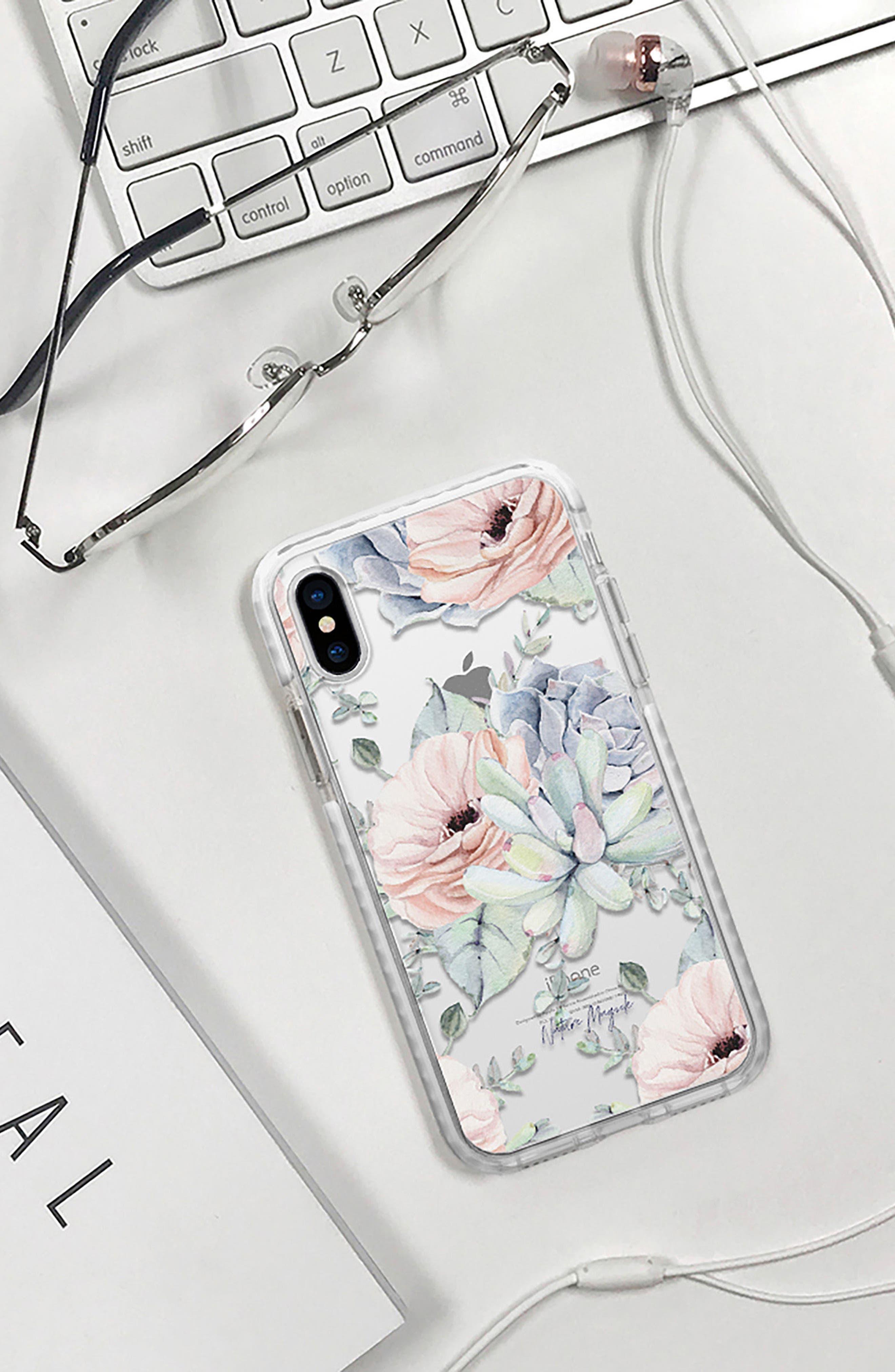 Pretty Succulents iPhone X/Xs Case,                             Alternate thumbnail 6, color,                             650