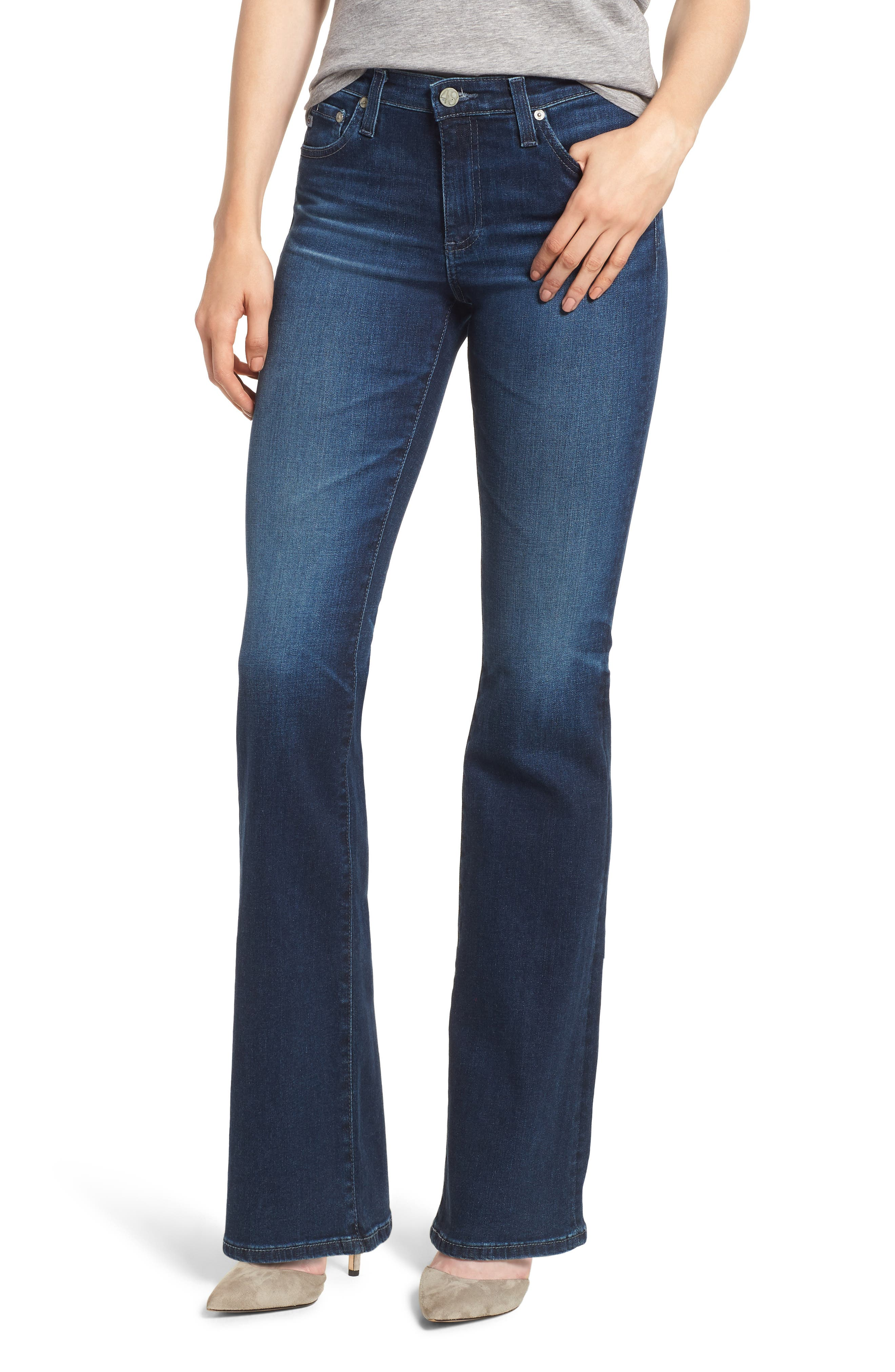Angel Flare Jeans,                         Main,                         color, 04 YEARS DEEP WILLOWS