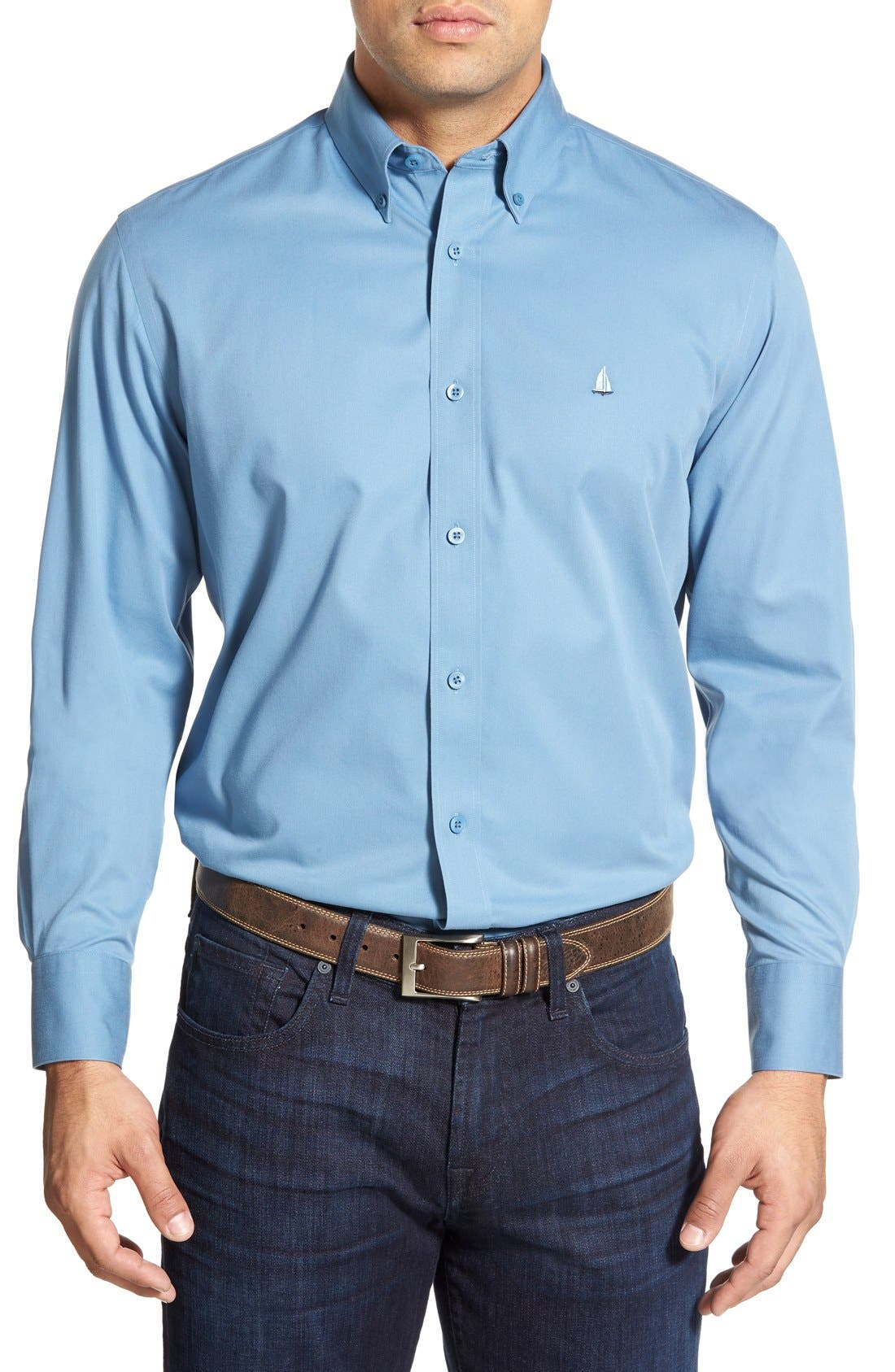 Smartcare<sup>™</sup> Traditional Fit Twill Boat Shirt,                             Main thumbnail 28, color,