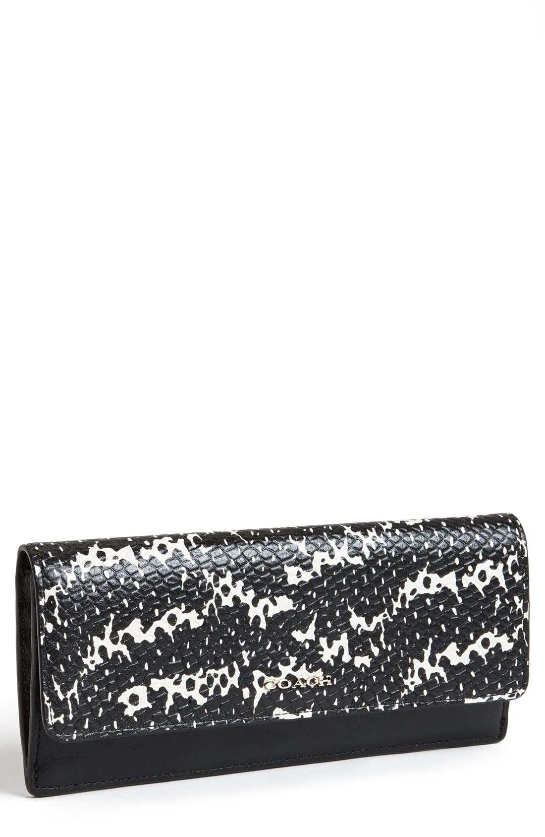'Madison' Python Embossed Leather Wallet, Main, color, 018