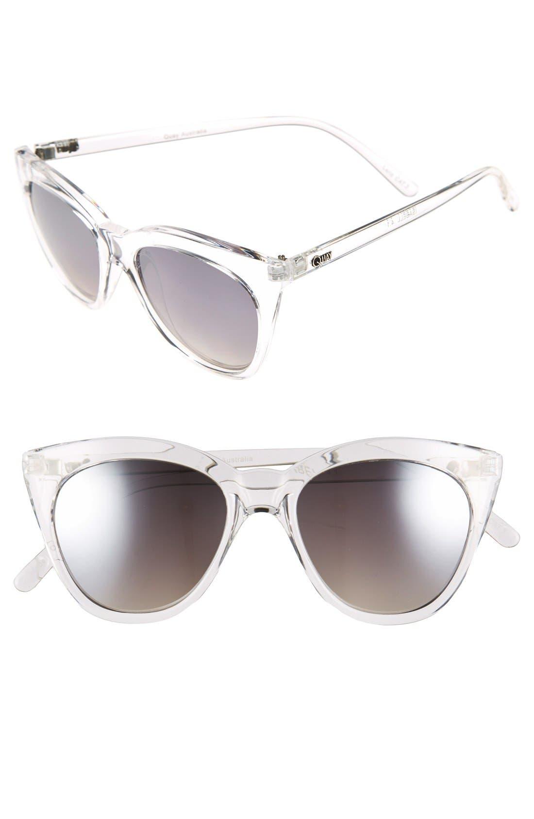 'Isabell' 50mm Cat Eye Sunglasses,                             Main thumbnail 1, color,                             111