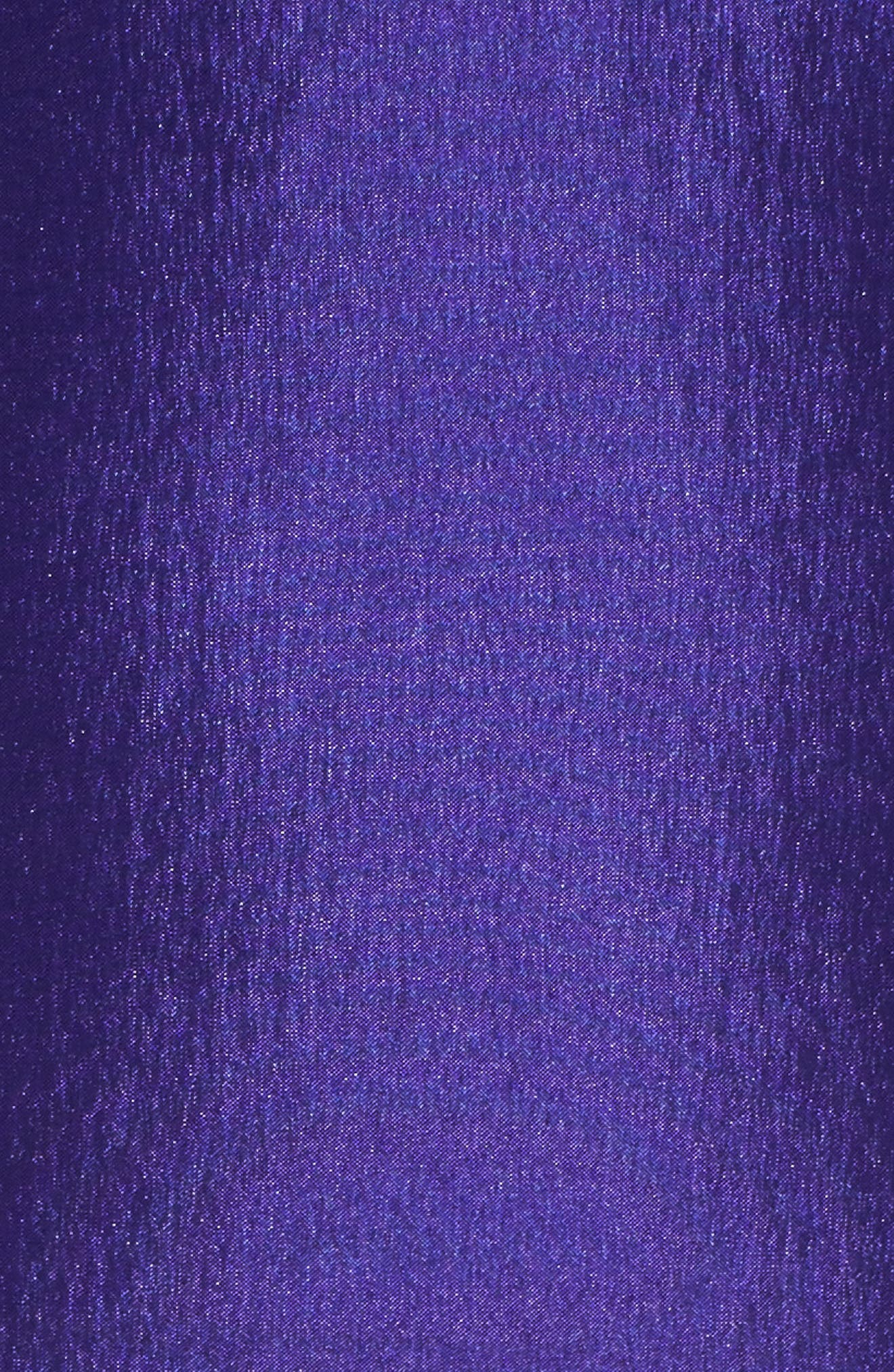 Off the Shoulder Mermaid Gown,                             Alternate thumbnail 5, color,                             ROYAL/ PURPLE