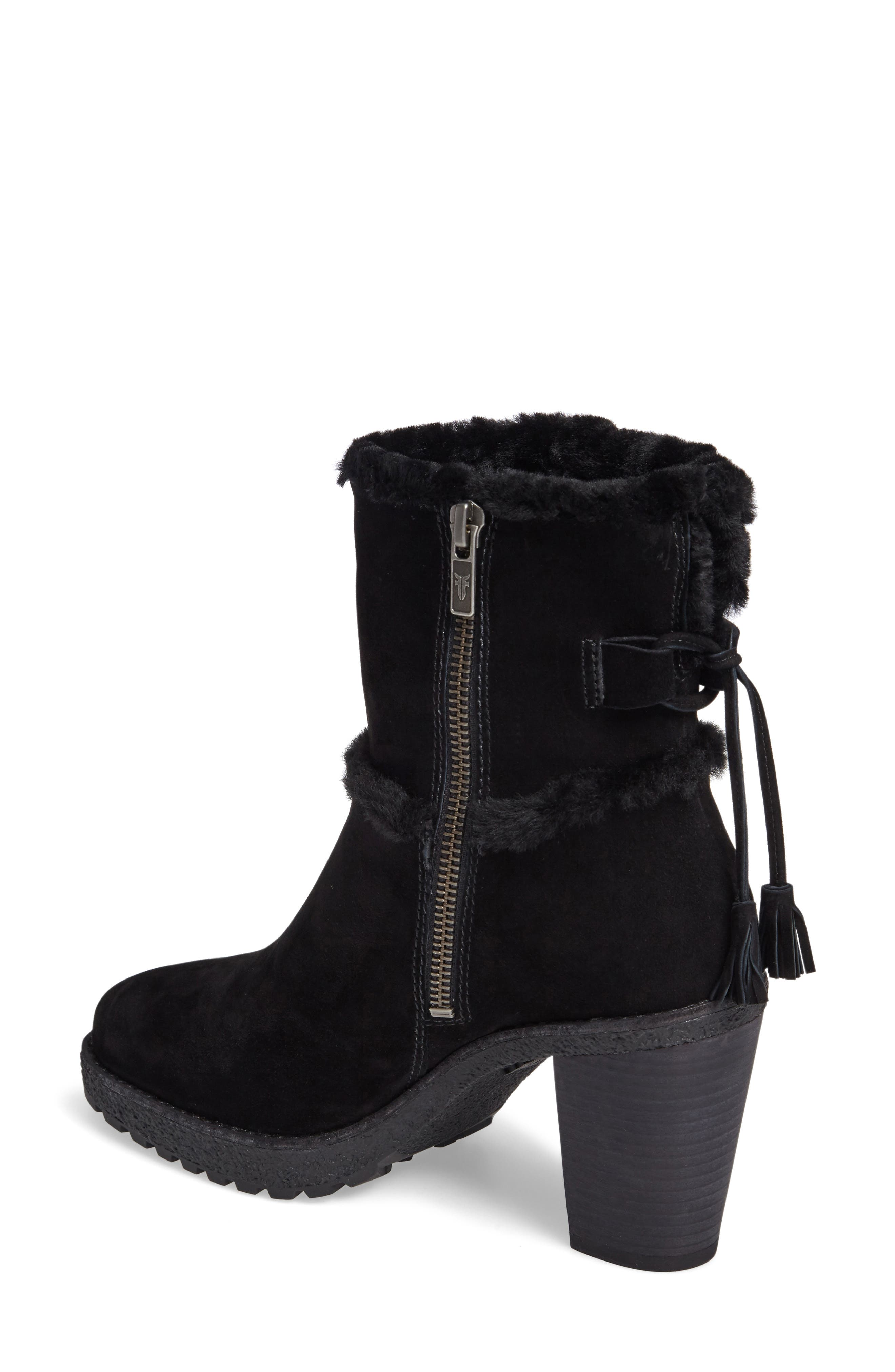 Jen Genuine Shearling Lined Water Resistant Boot,                             Alternate thumbnail 3, color,                             001
