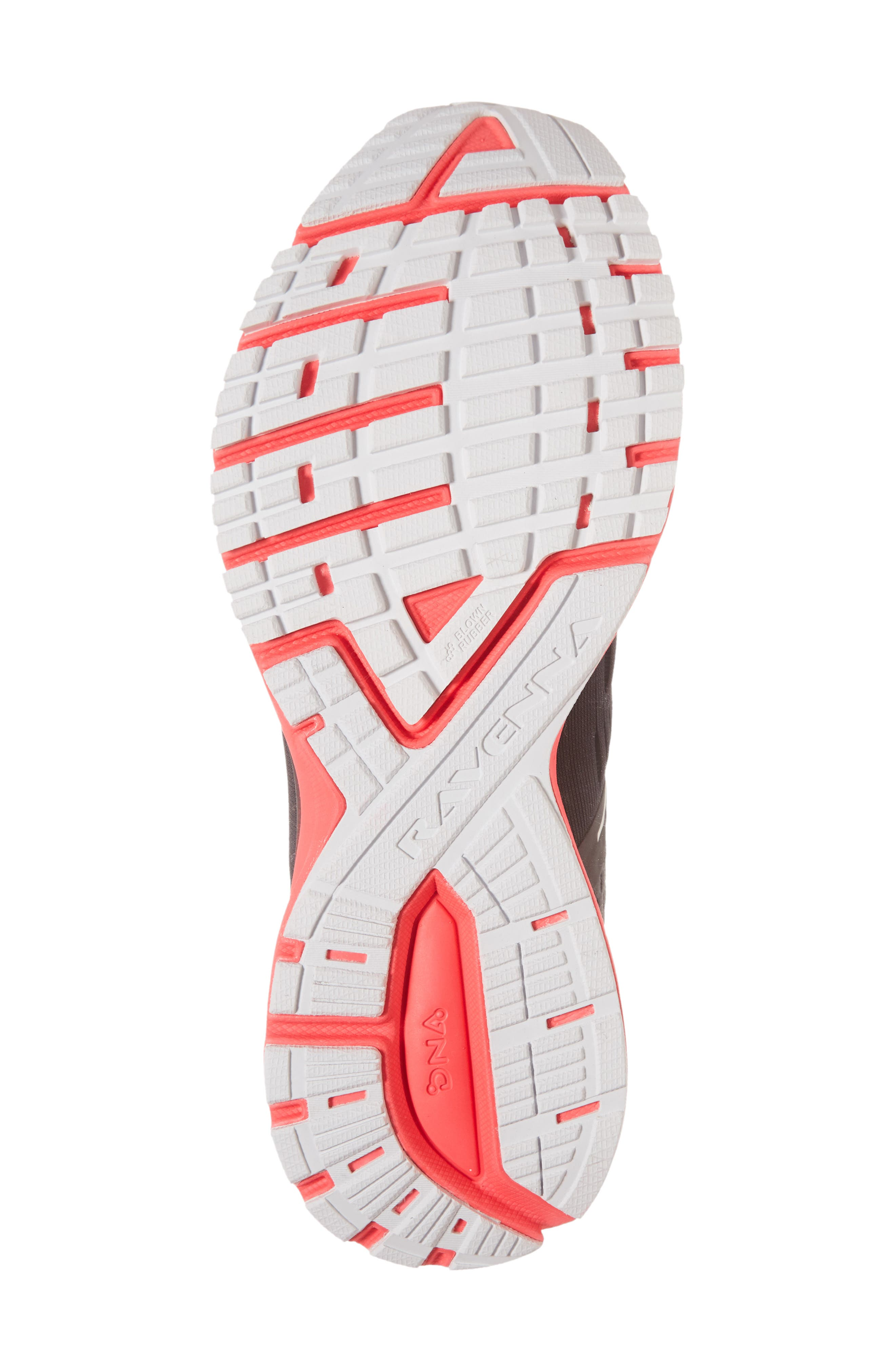 Ravenna 9 Running Shoe,                             Alternate thumbnail 6, color,                             EBONY/ DIVA PINK/ WHITE