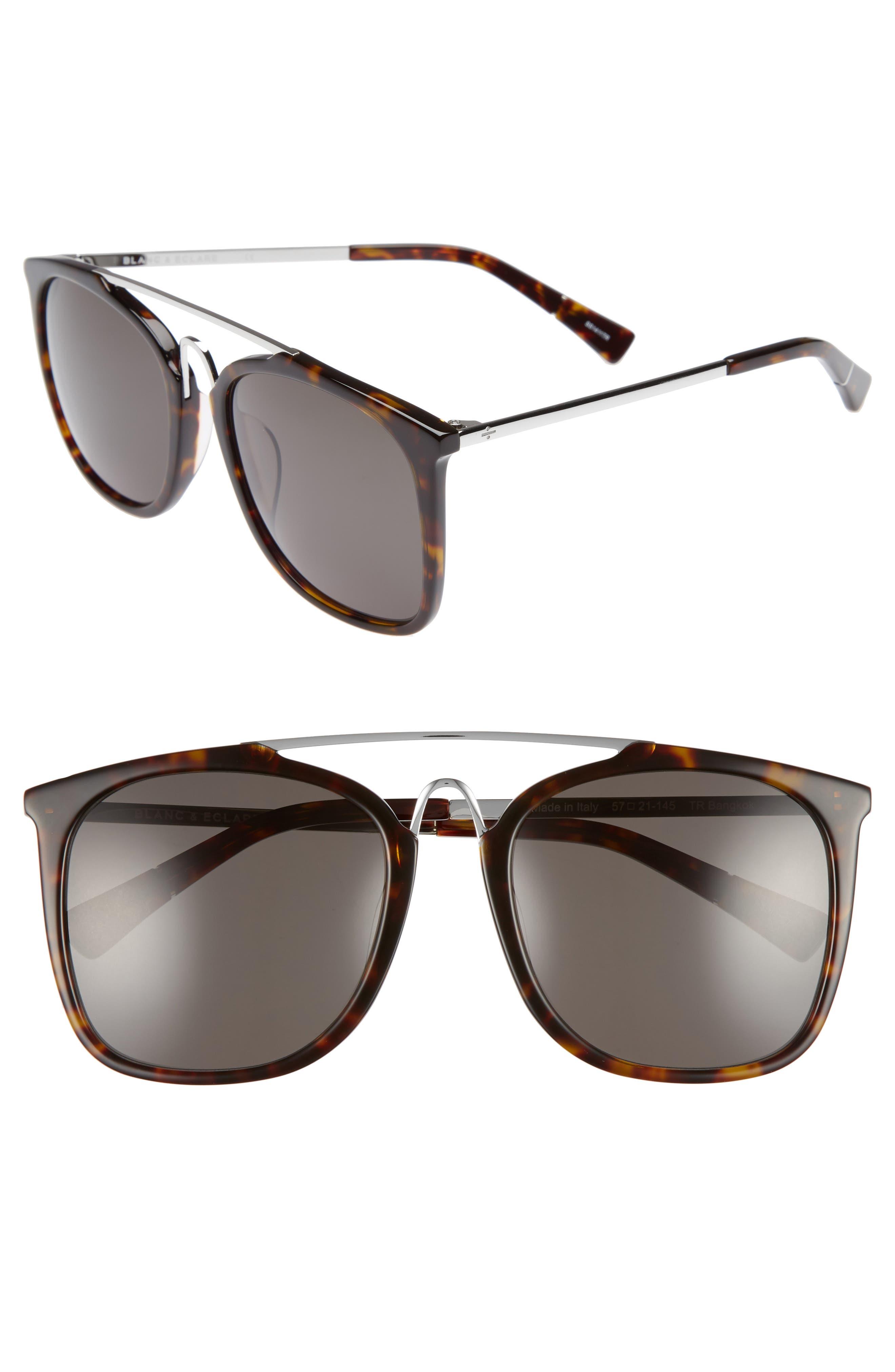 BLANC & ECLARE Bangkok 57mm Polarized Sunglasses,                             Main thumbnail 2, color,
