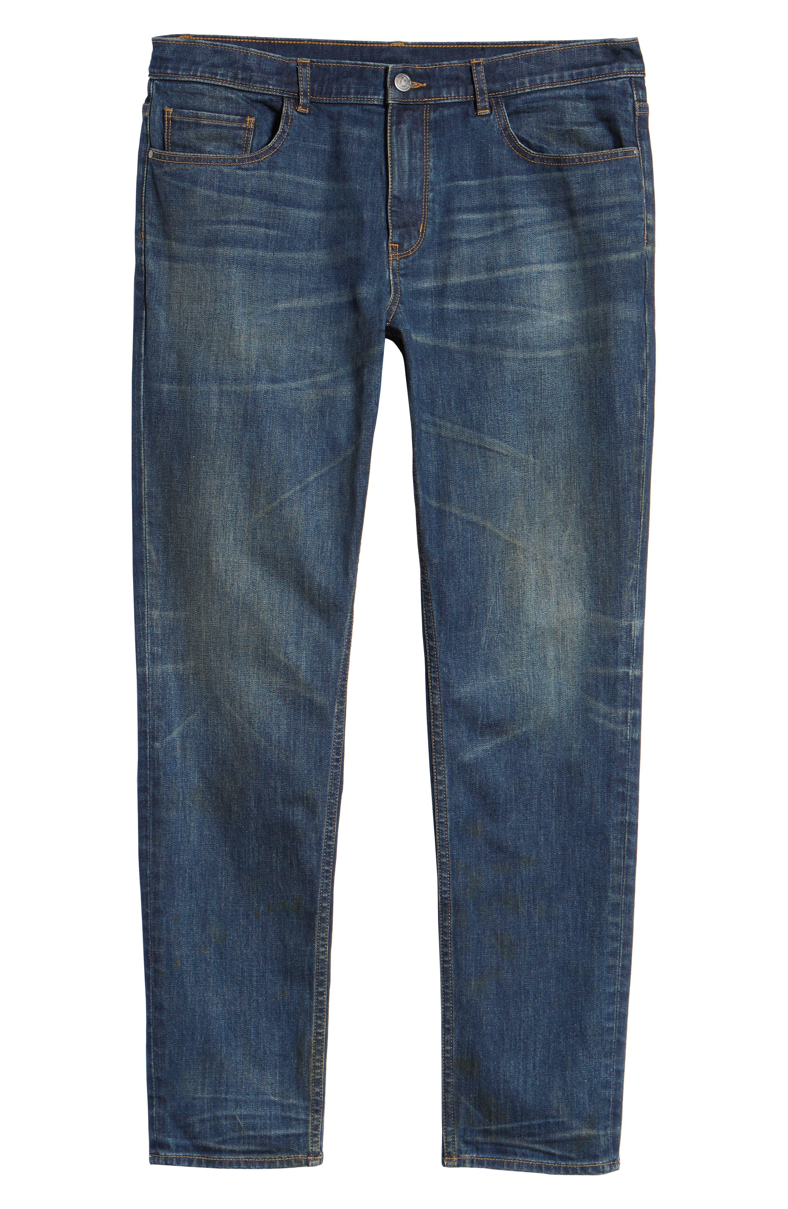 TREASURE & BOND,                             Slim Fit Jeans,                             Alternate thumbnail 6, color,                             BLUE MED VINTAGE WASH