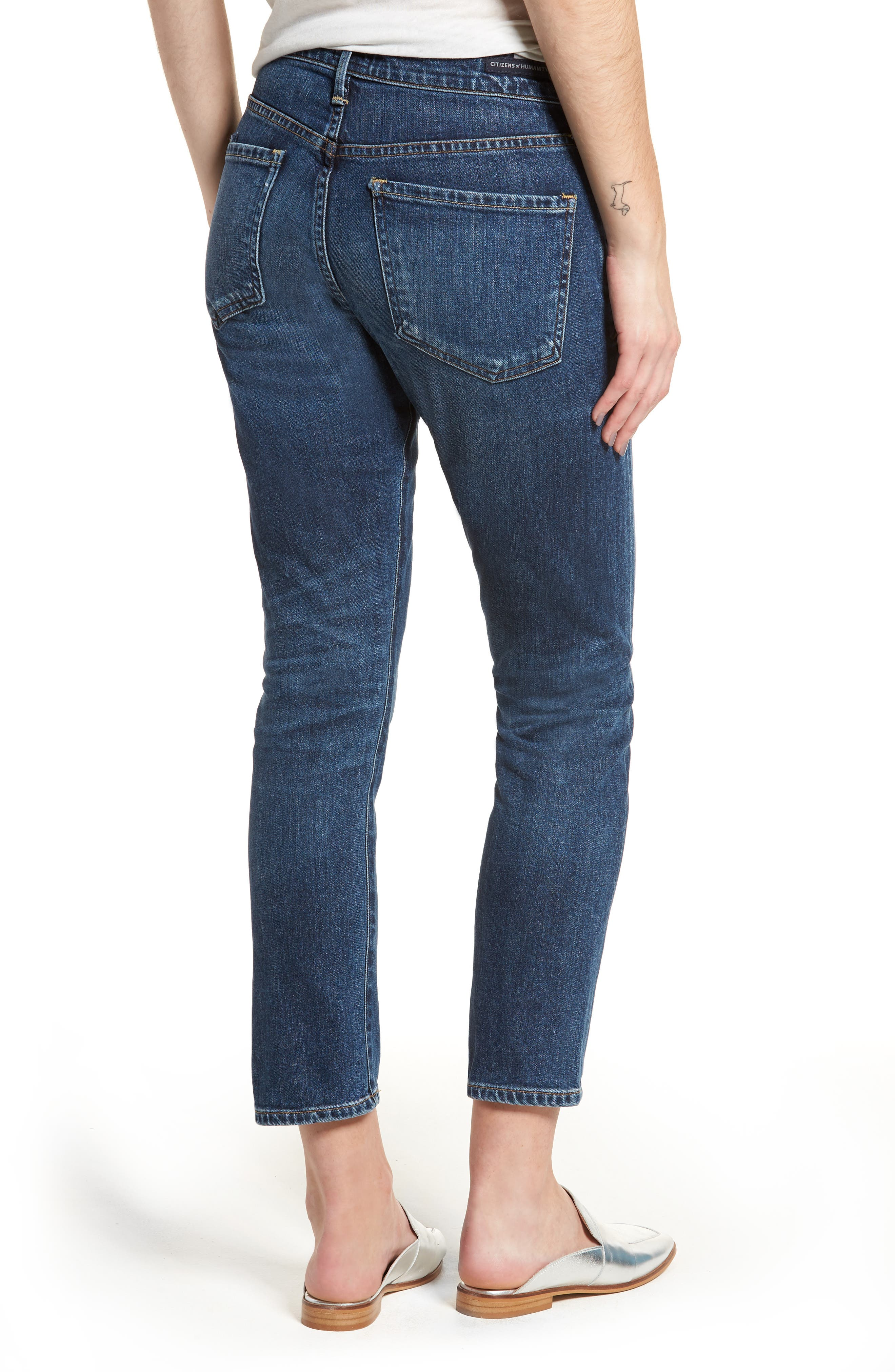 Elsa Crop Slim Jeans,                             Alternate thumbnail 2, color,                             428