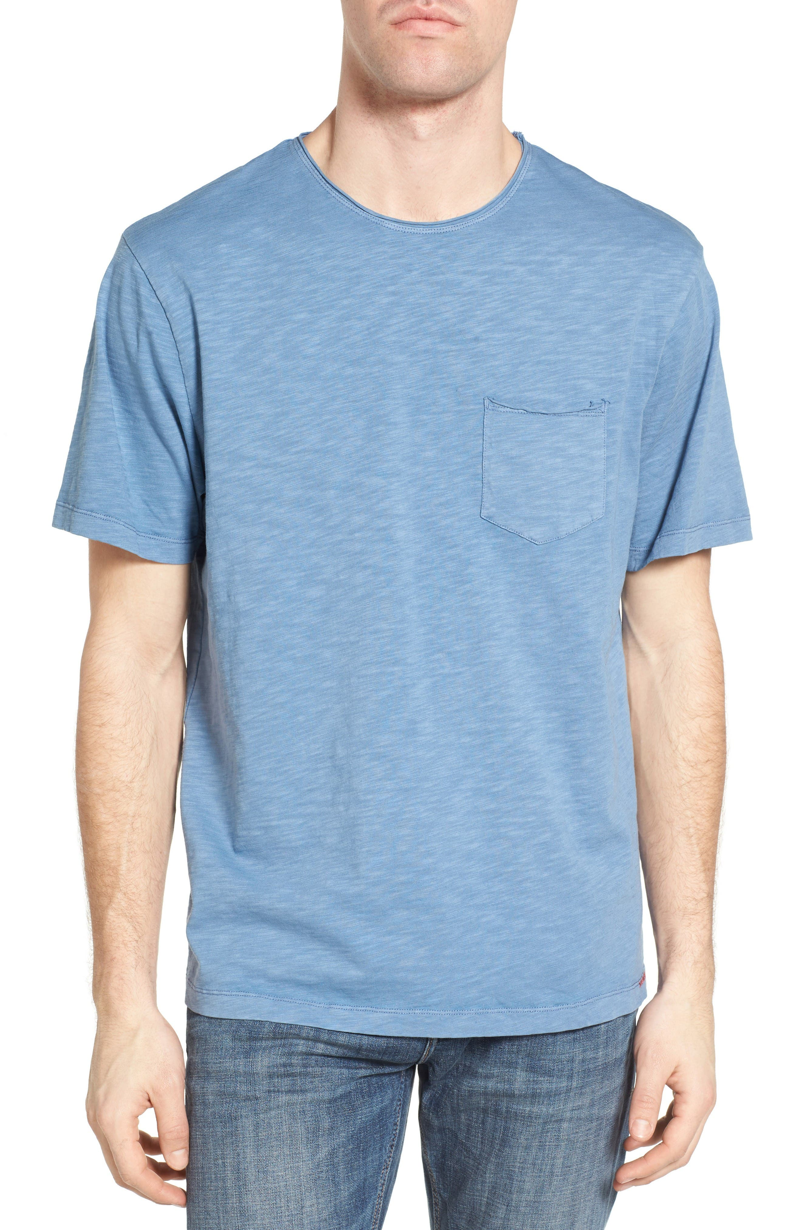 Raw Edge Slub T-Shirt,                             Main thumbnail 1, color,                             VINTAGE BLUE