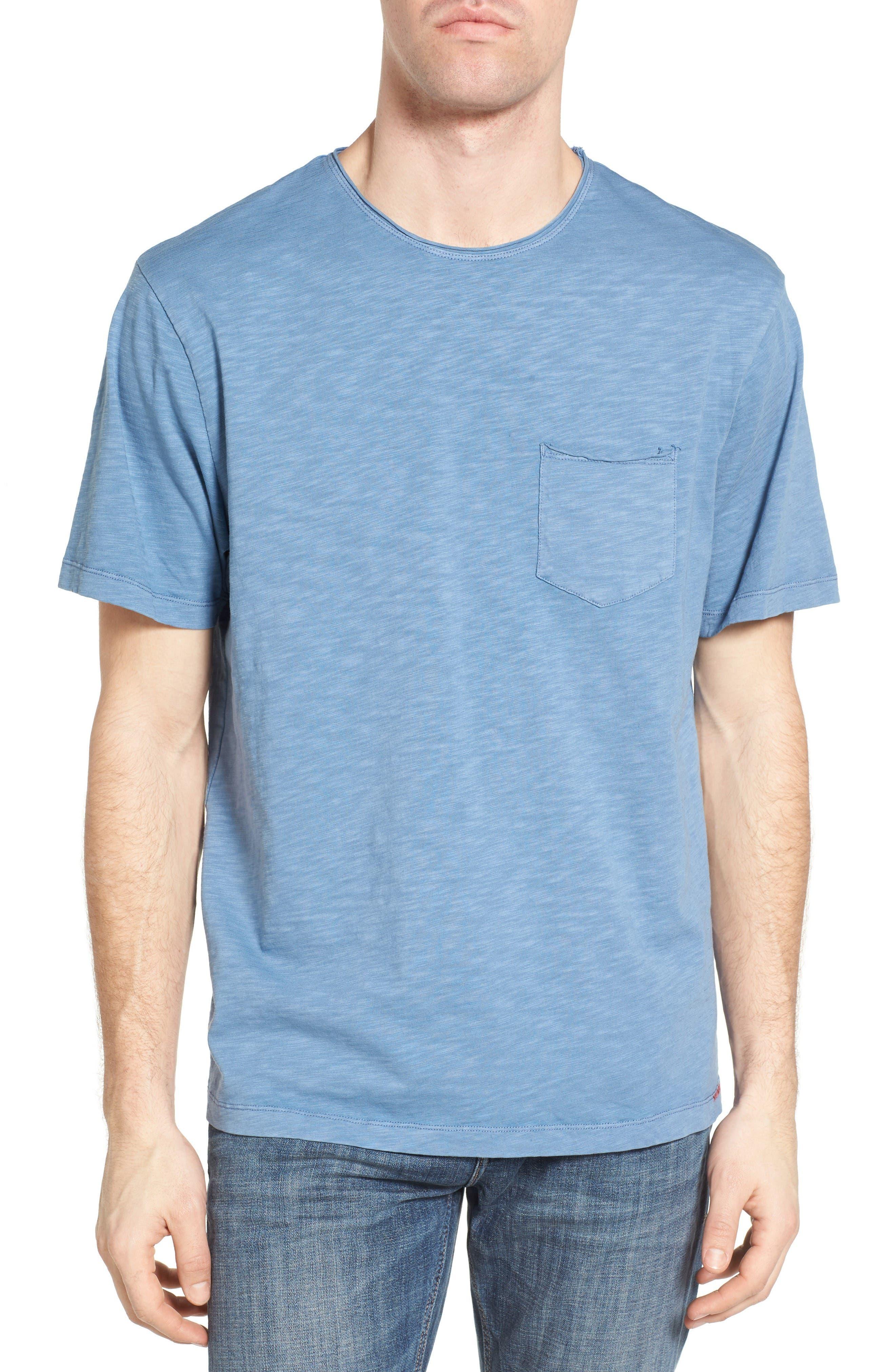 Raw Edge Slub T-Shirt,                         Main,                         color, VINTAGE BLUE
