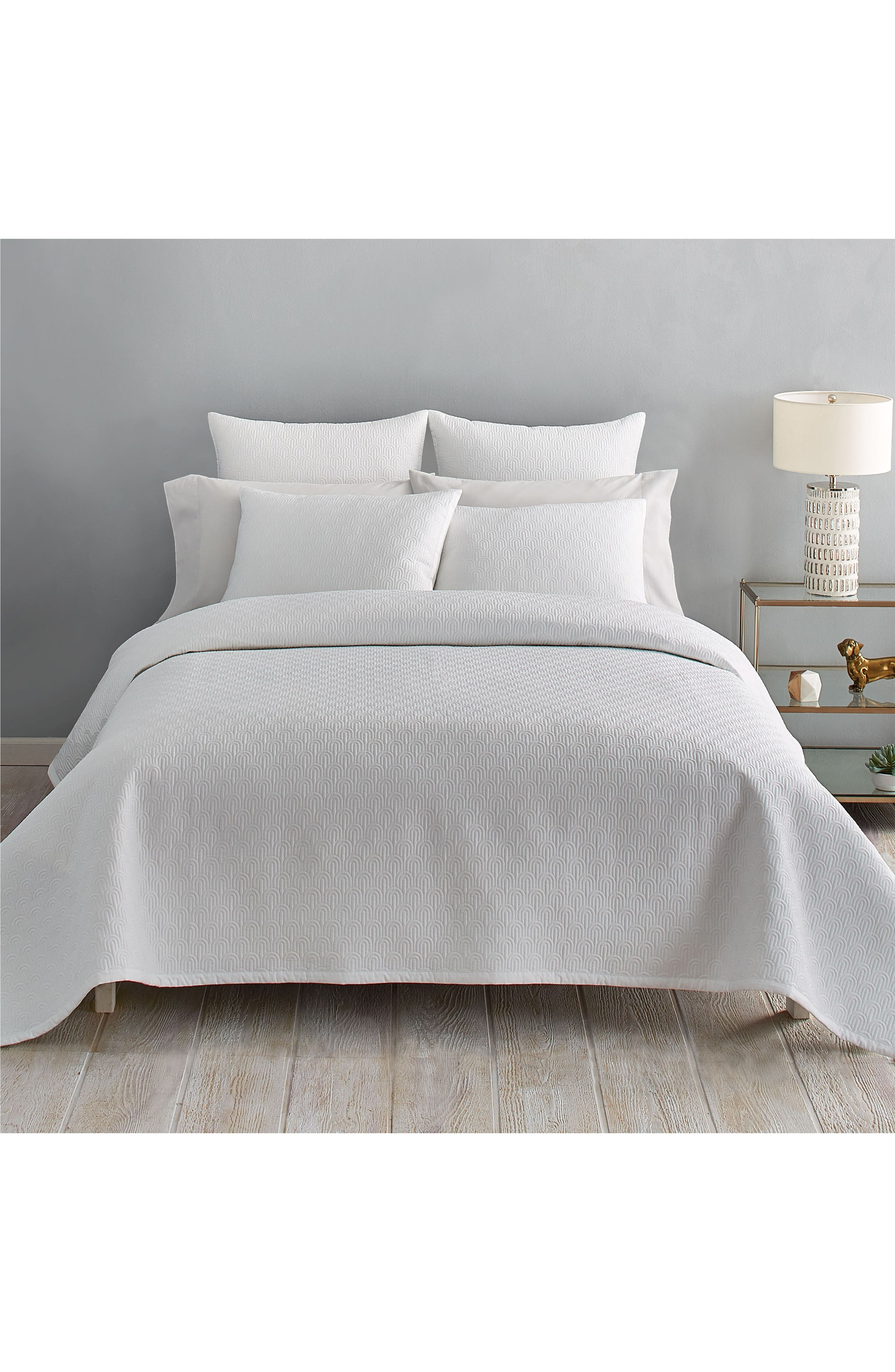 Quilted Coverlet,                             Main thumbnail 1, color,                             WHITE