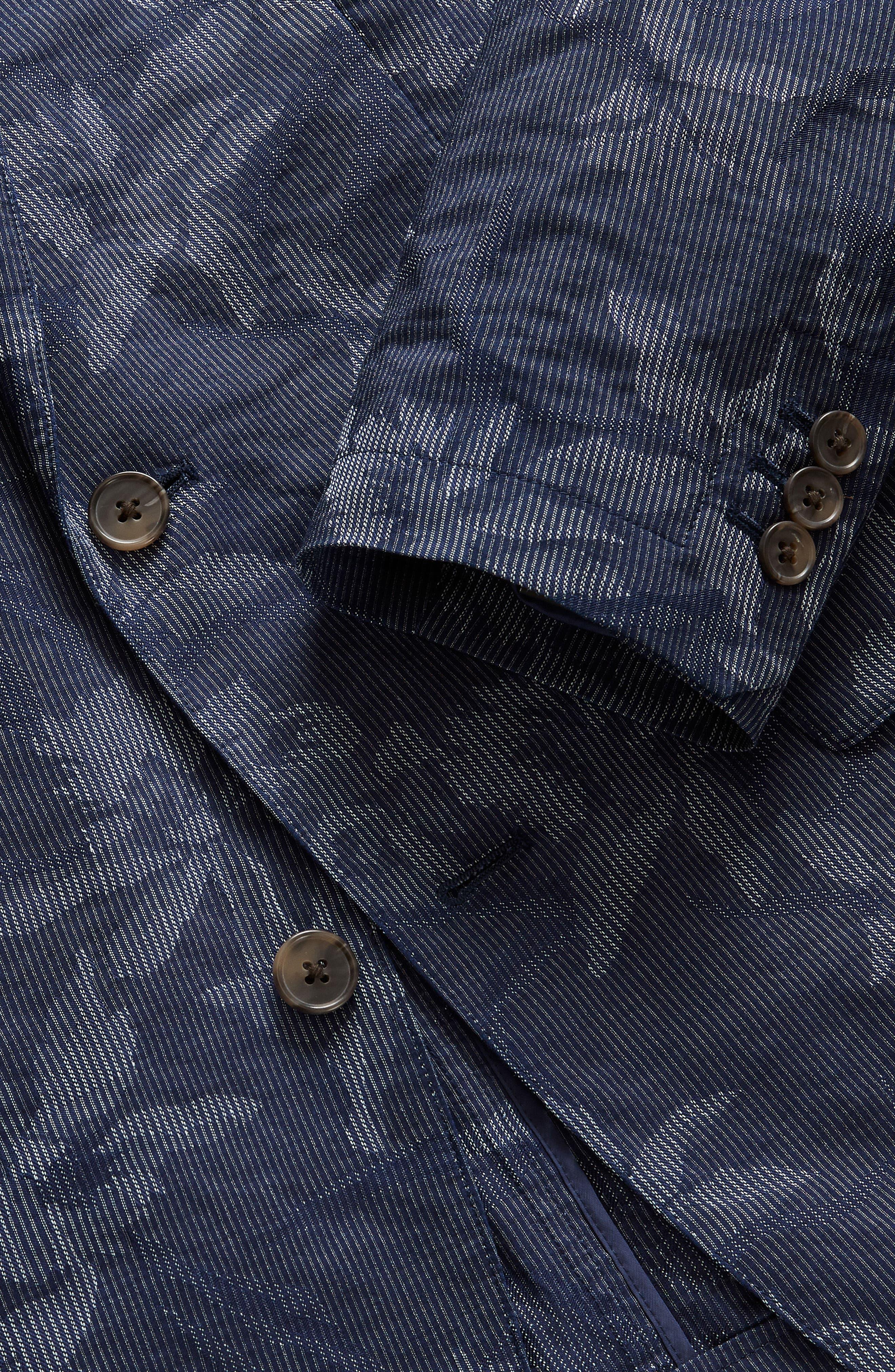 Slim Fit Floral Cotton Blend Sport Coat,                             Alternate thumbnail 4, color,                             420