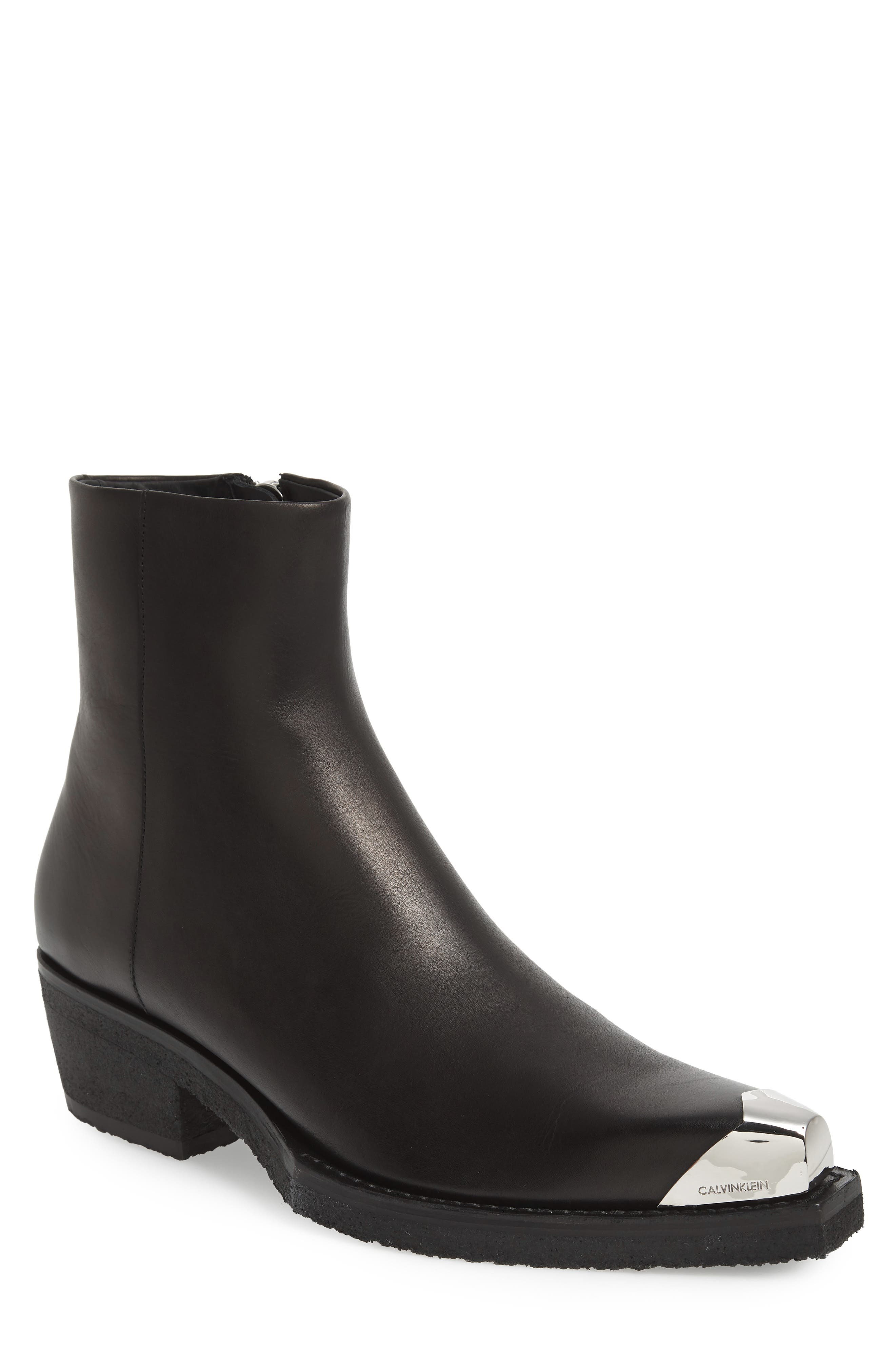 Cal Clute Boot,                         Main,                         color, BLACK