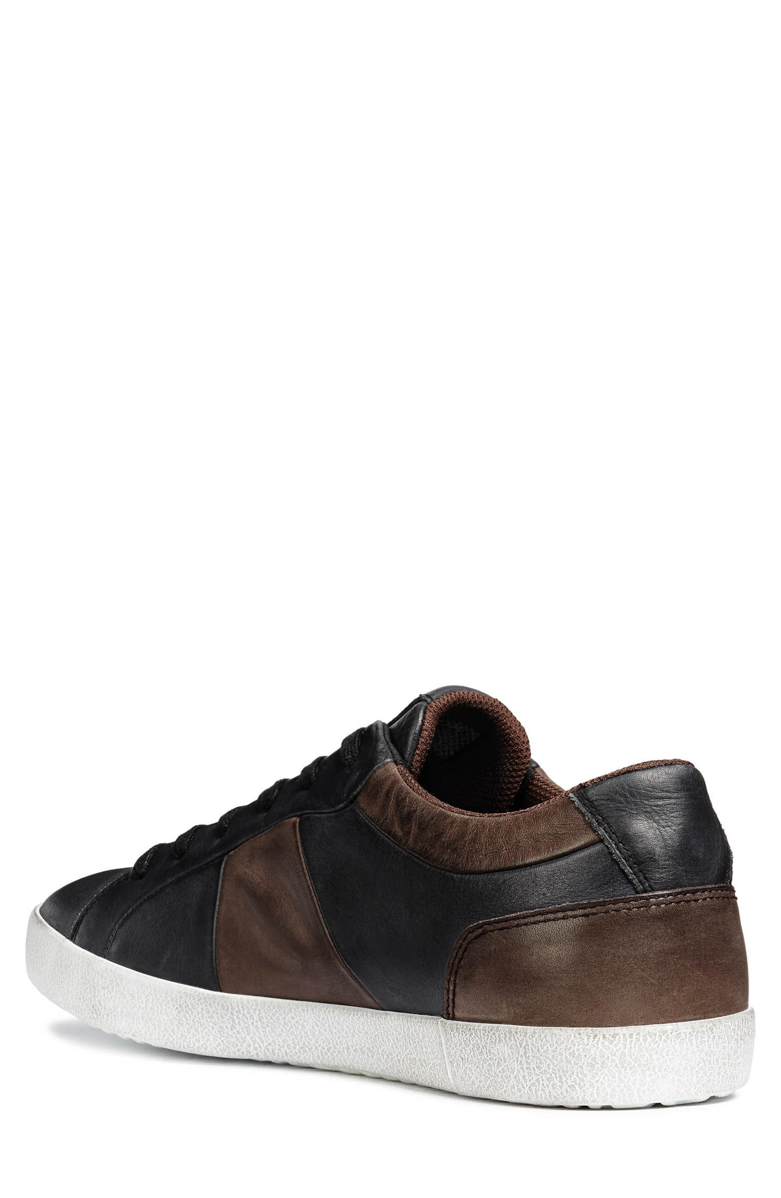 Smart 85 Low Top Sneaker,                             Alternate thumbnail 2, color,                             BLACK/ COFFEE LEATHER