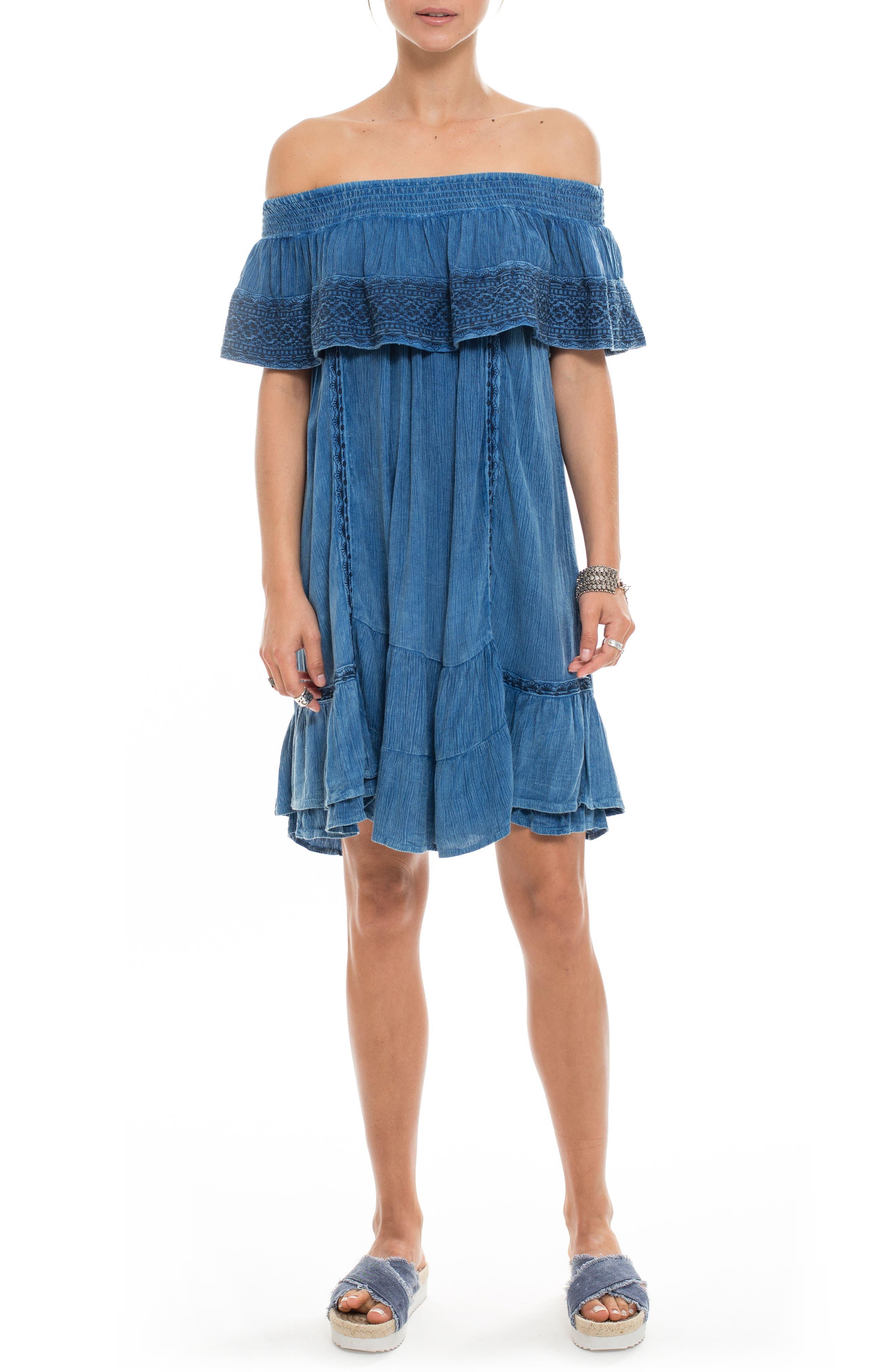 Gavin Ruffle Cover-Up Dress,                             Main thumbnail 1, color,