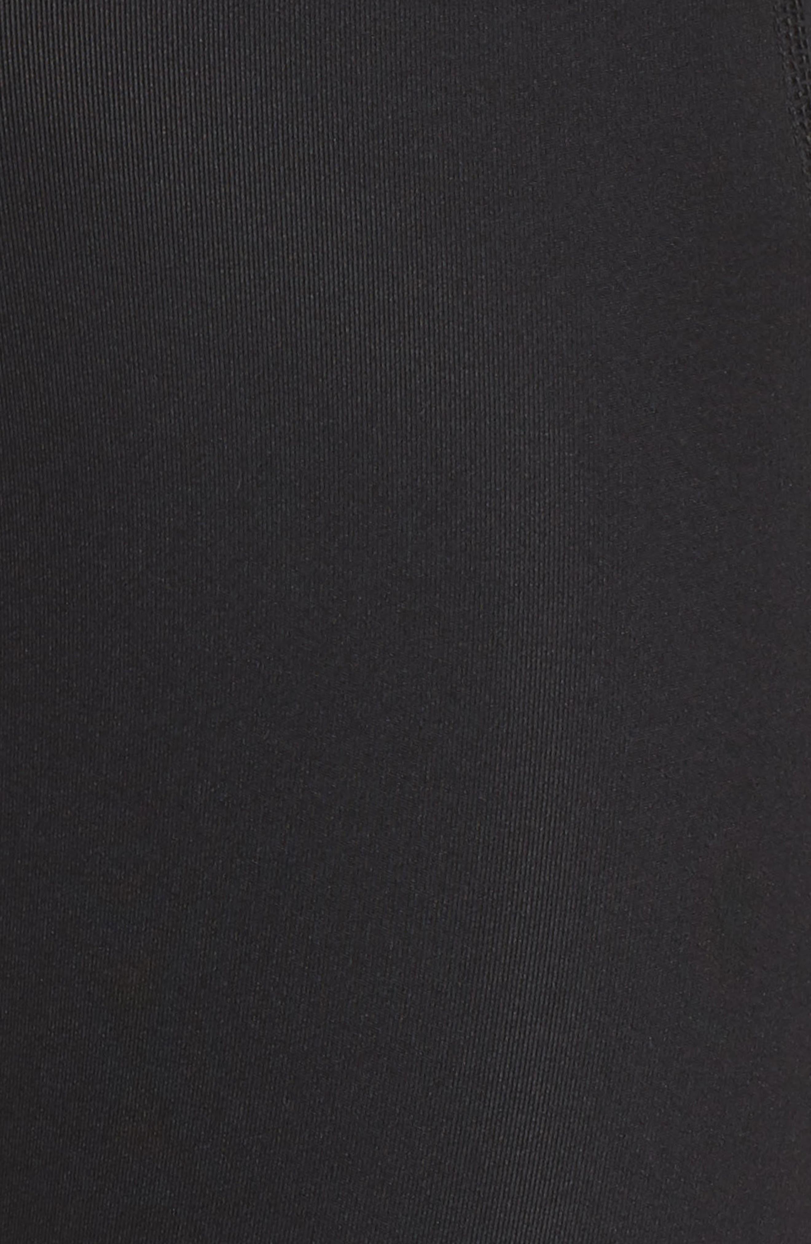 High Waist Run Sprint In Crop Leggings,                             Alternate thumbnail 6, color,                             BLACK