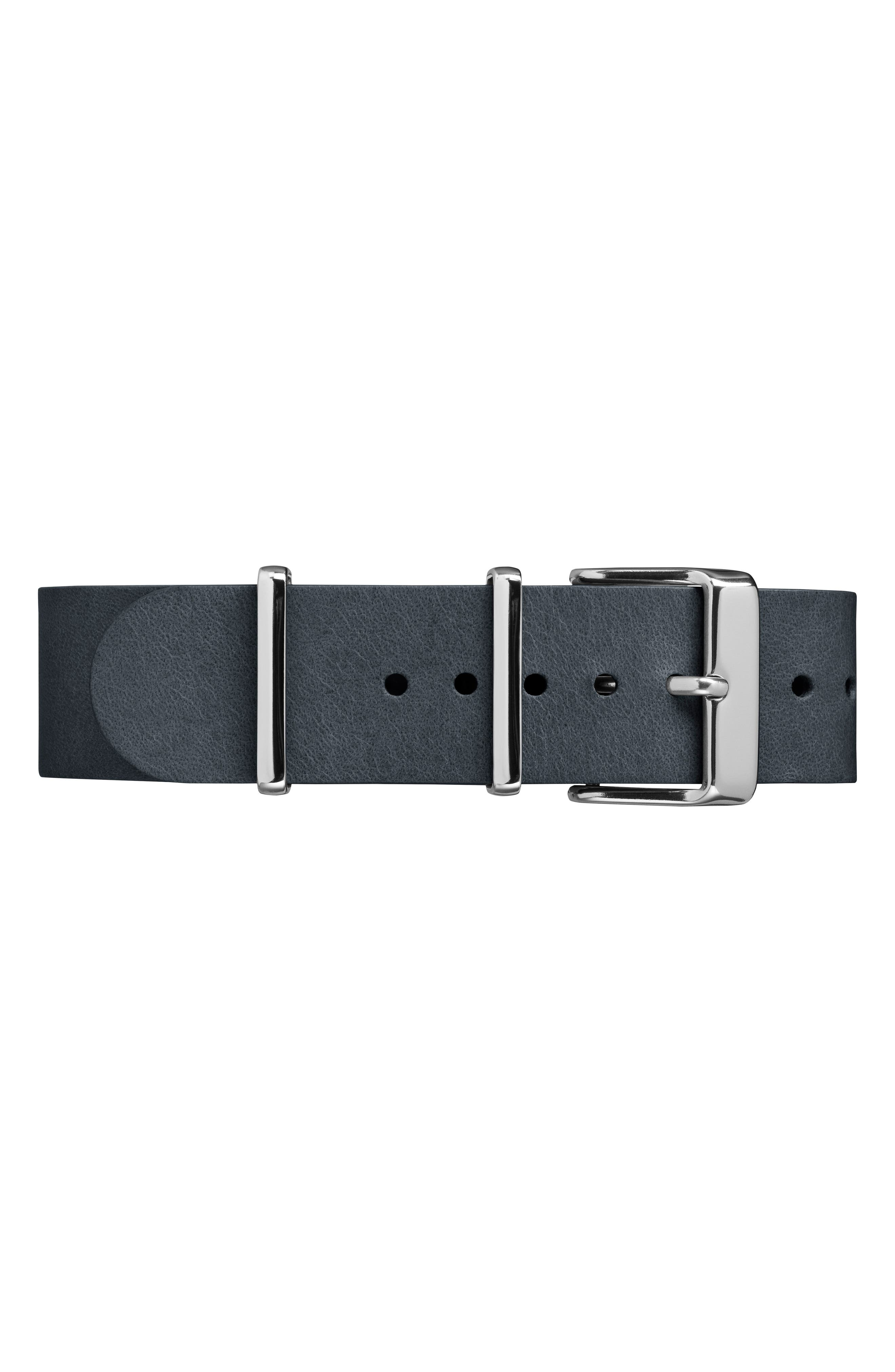 Fairfield Leather Strap Watch, 41mm,                             Alternate thumbnail 3, color,                             002