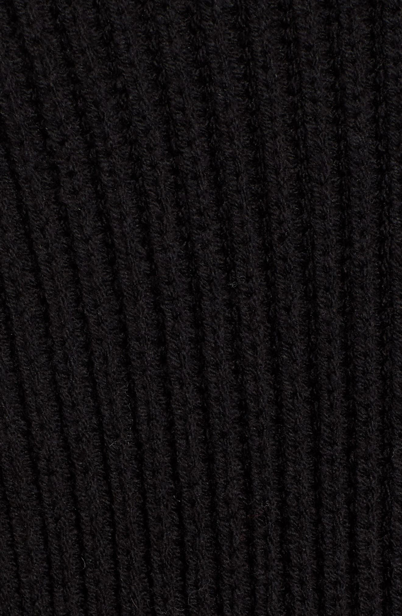Rib Overlap Cardigan,                             Alternate thumbnail 5, color,                             001