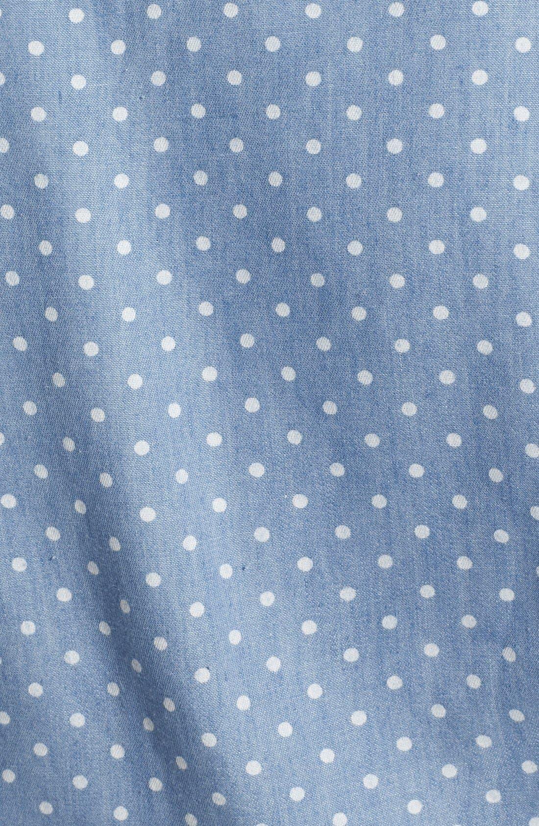 Polka Dot Sleeveless Tie Waist Shirt,                             Alternate thumbnail 2, color,                             400