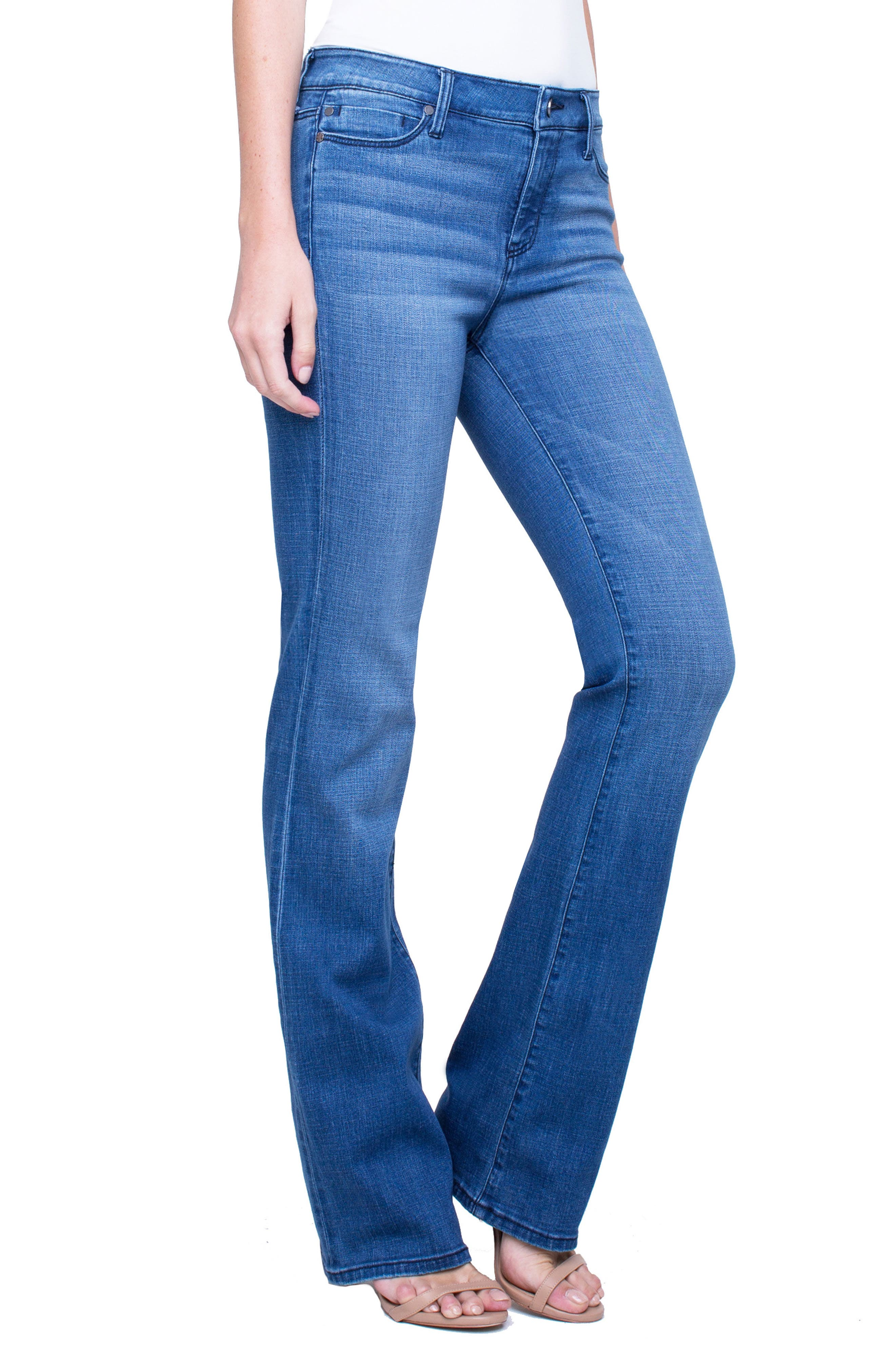Lucy Stretch Bootcut Jeans,                             Alternate thumbnail 3, color,                             SUNDANCE