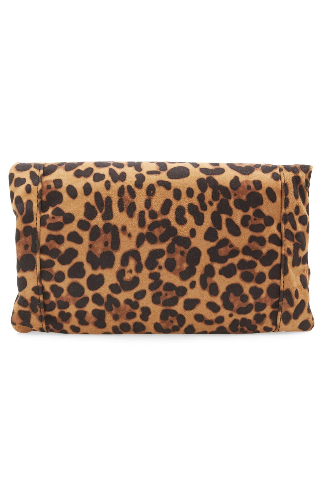 'Tasia' Print Foldover Clutch,                             Alternate thumbnail 8, color,