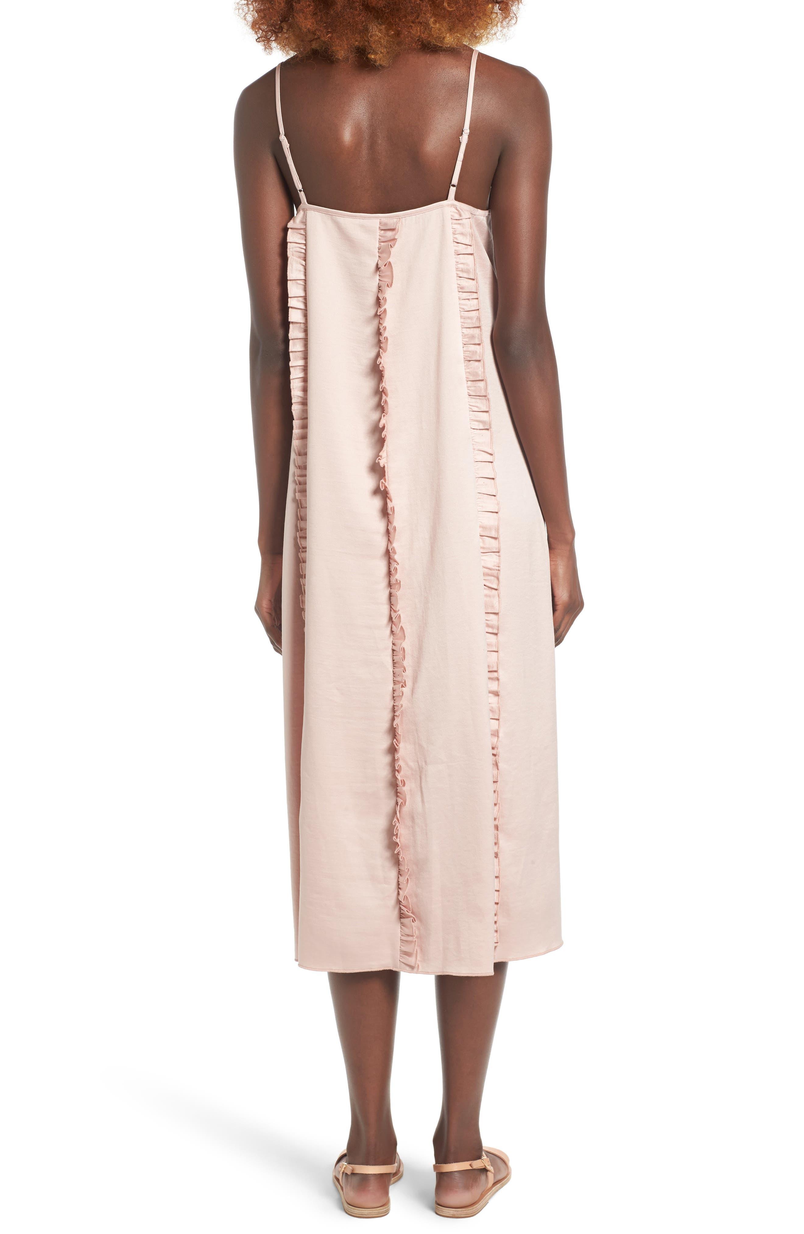 Ruffle Midi Dress,                             Alternate thumbnail 2, color,                             650