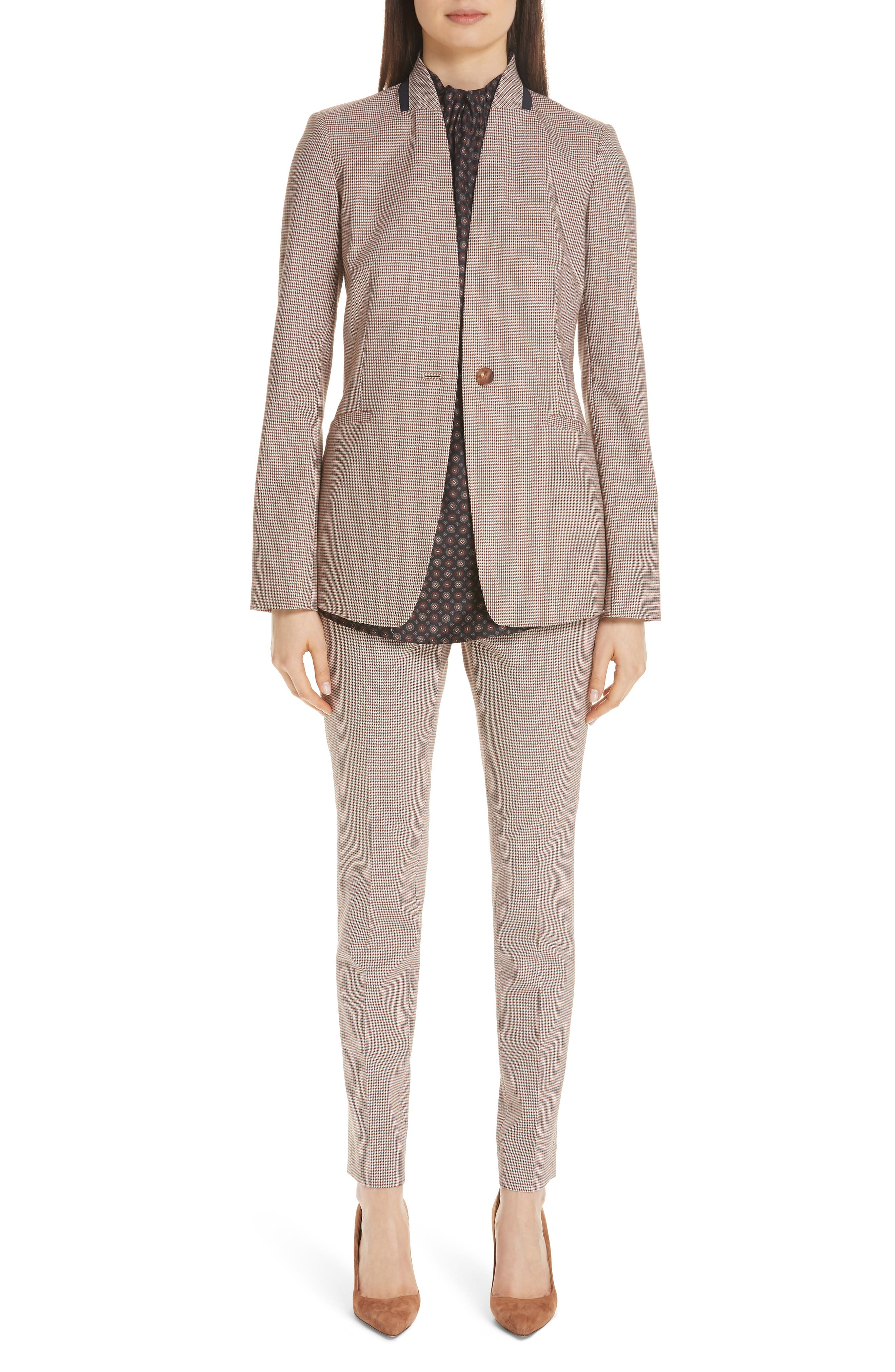LAFAYETTE 148 NEW YORK,                             Darcy Plaid Jacket,                             Alternate thumbnail 7, color,                             600