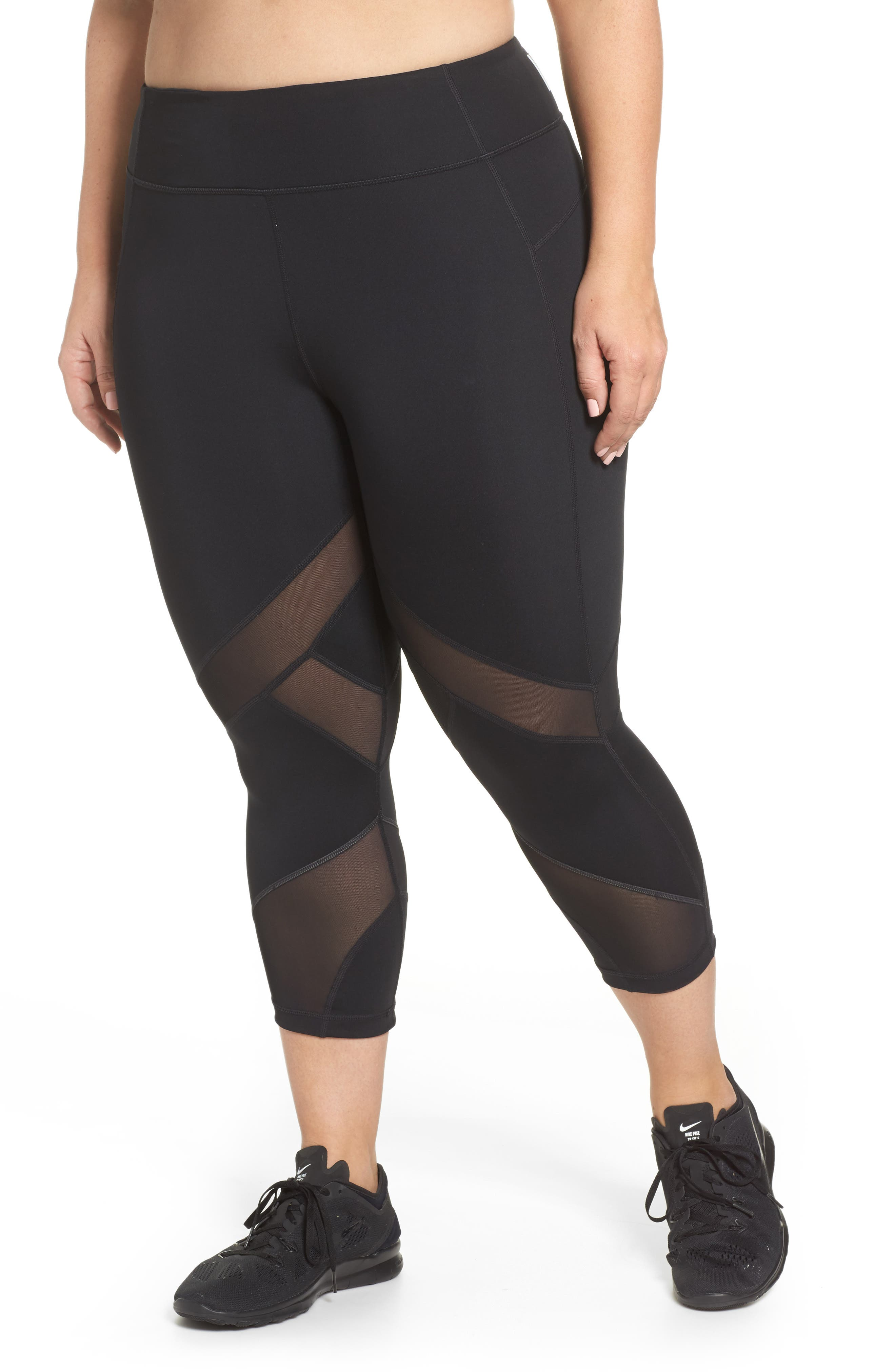 Swift II Crop Leggings,                             Main thumbnail 1, color,                             BLACK