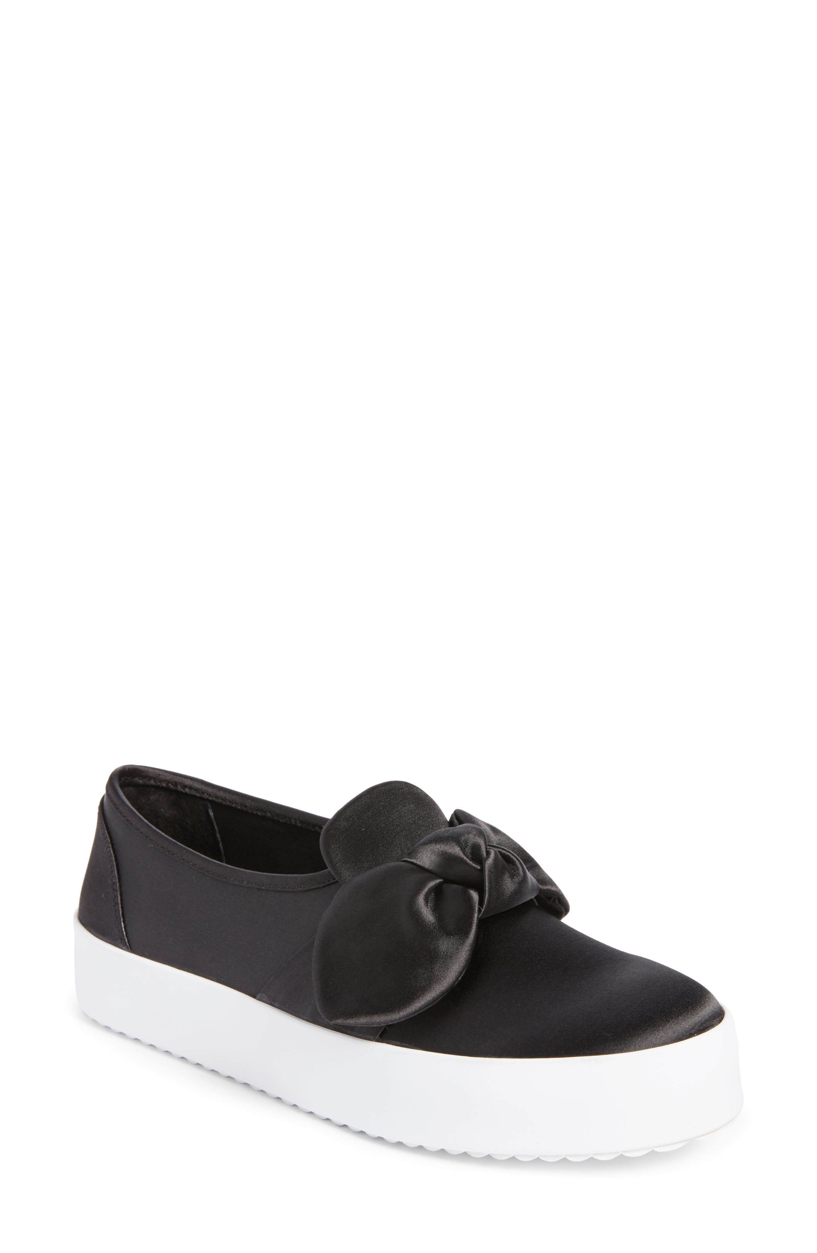 Stacey Bow Platform Sneaker,                         Main,                         color, 002