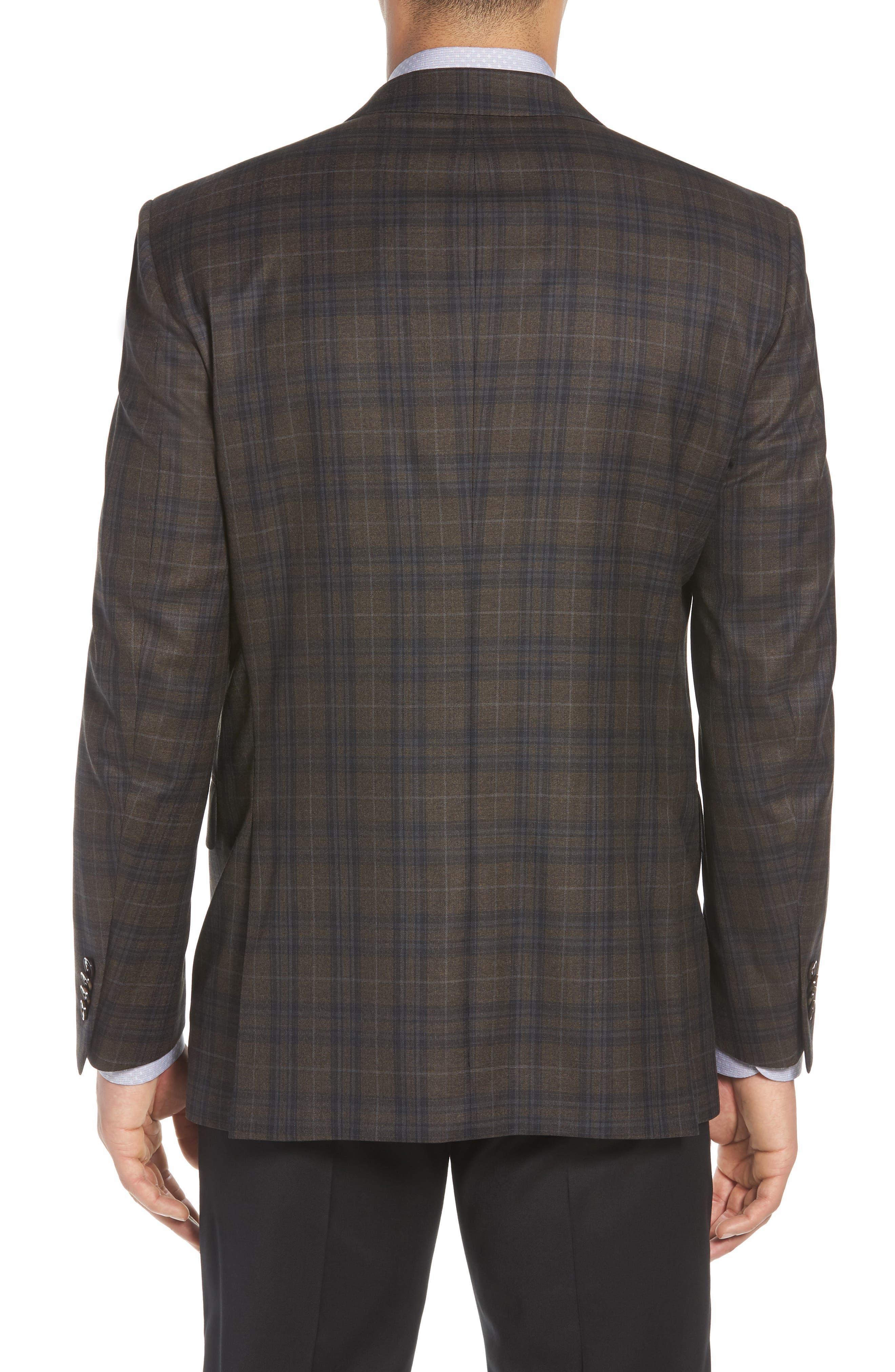 Classic Fit Plaid Wool Sport Coat,                             Alternate thumbnail 2, color,                             200