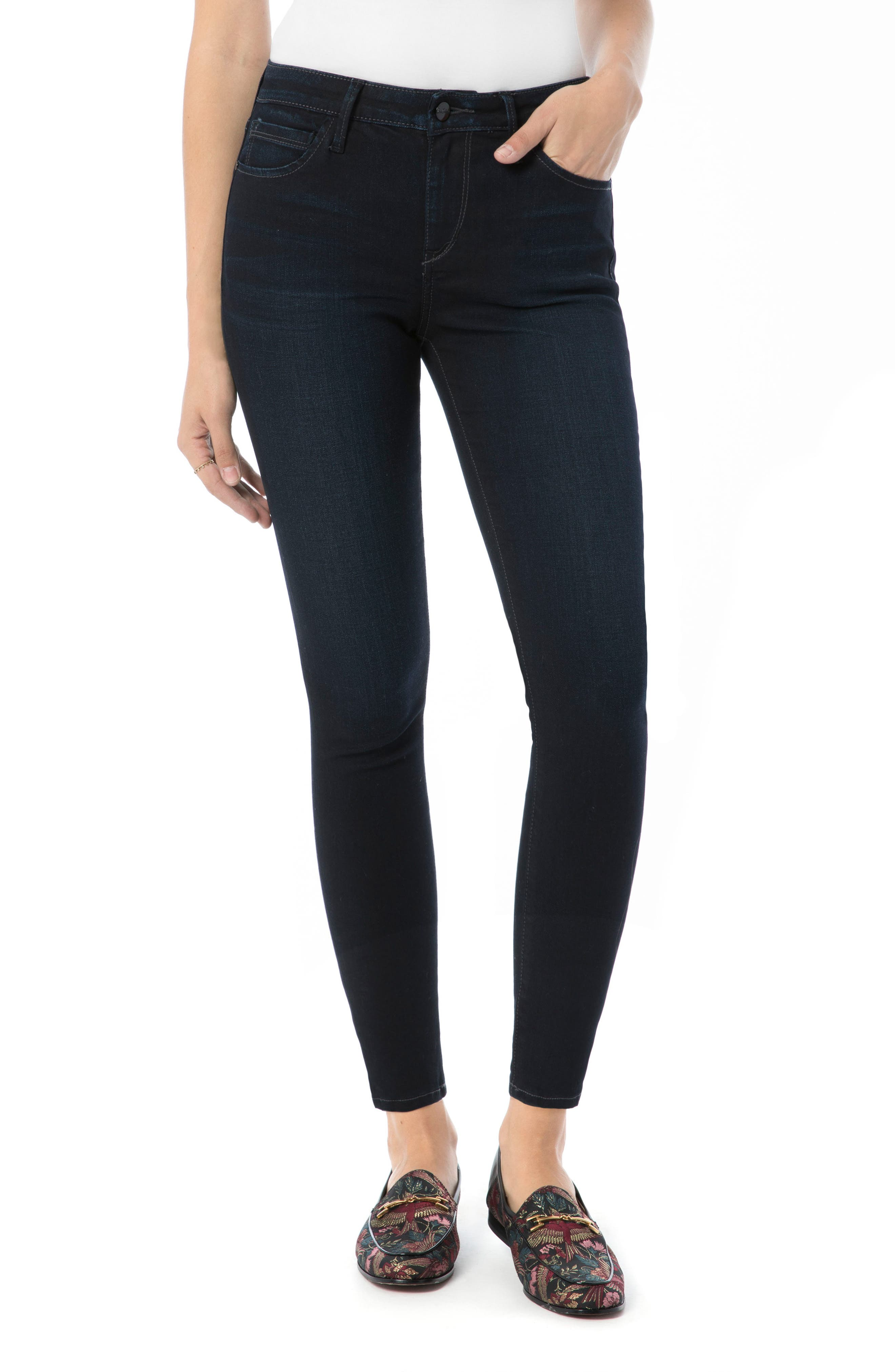 The Kitten Ankle Jeans,                         Main,                         color, BRONWYN