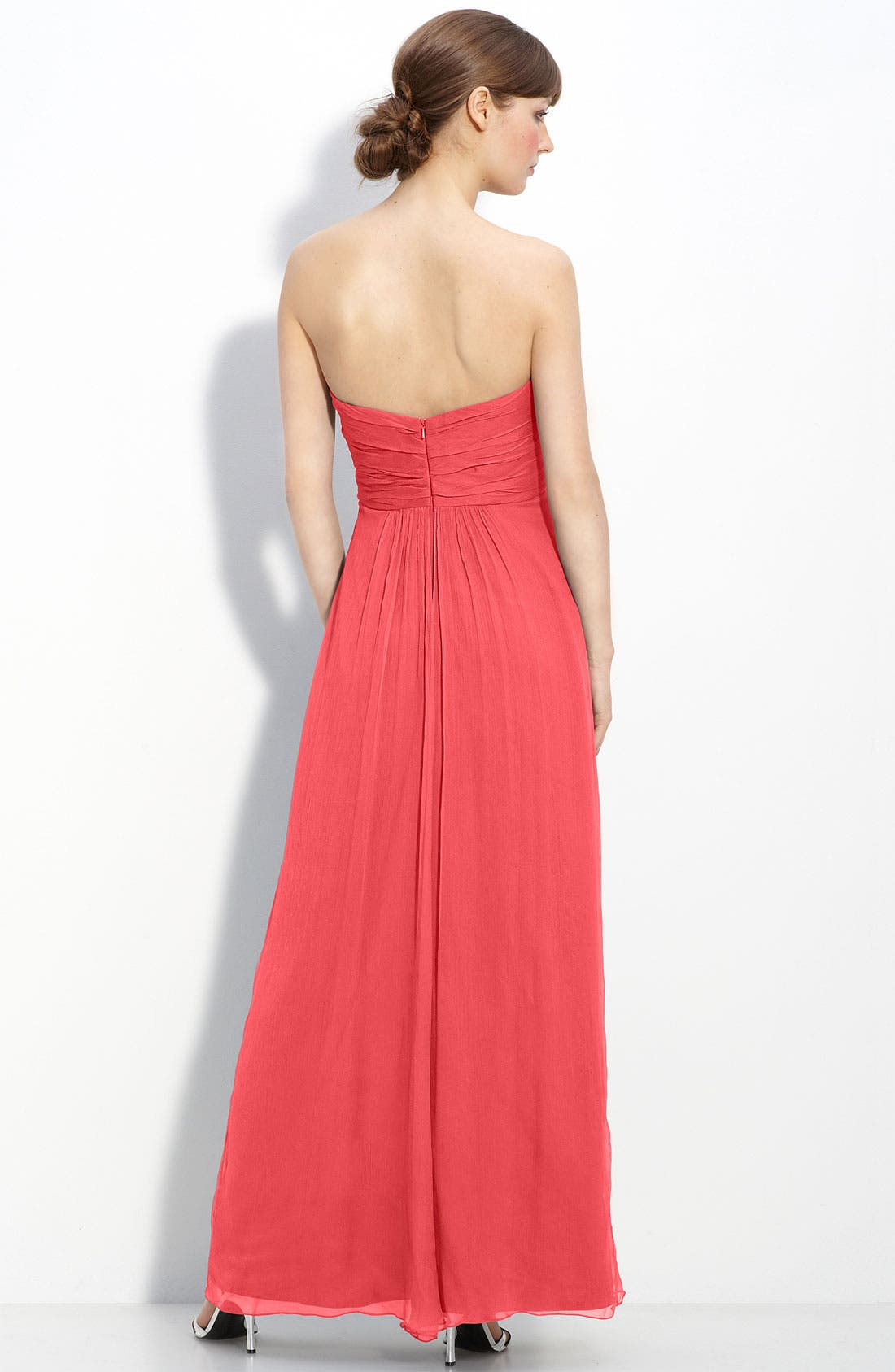 Strapless Crinkle Chiffon Gown,                             Alternate thumbnail 42, color,