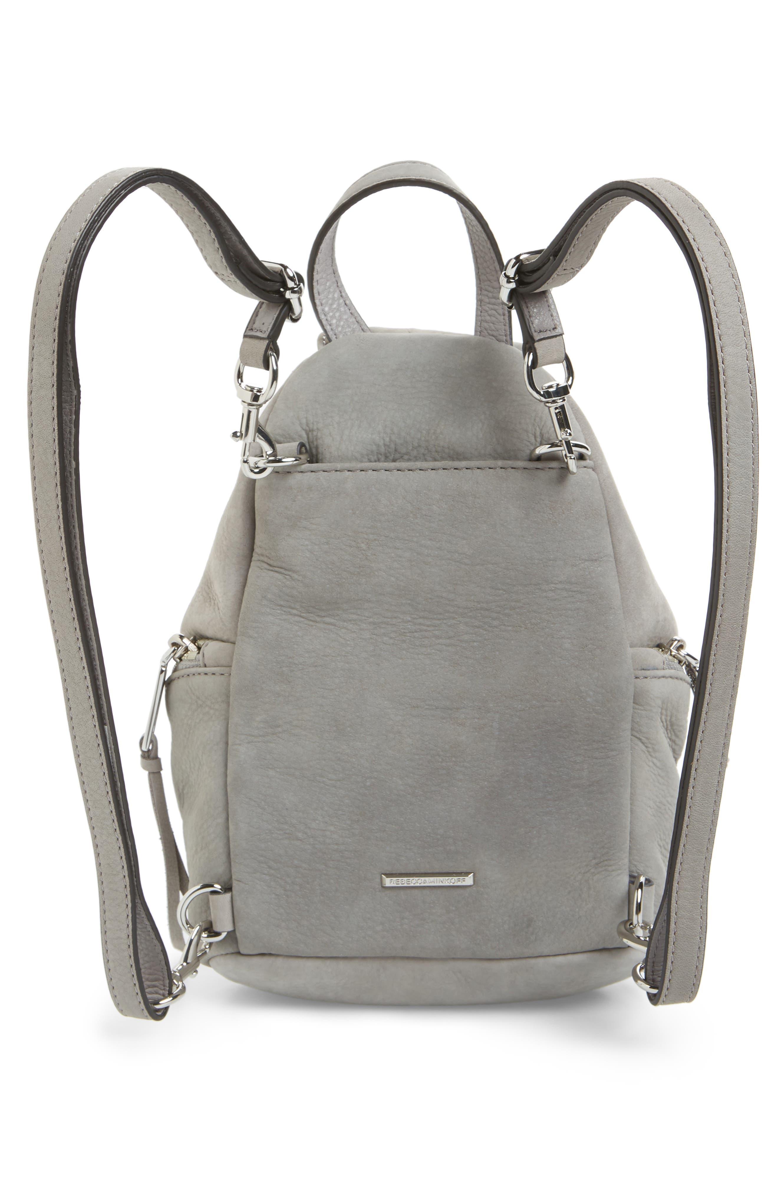 Mini Julian Nubuck Leather Convertible Backpack,                             Alternate thumbnail 3, color,                             GREY