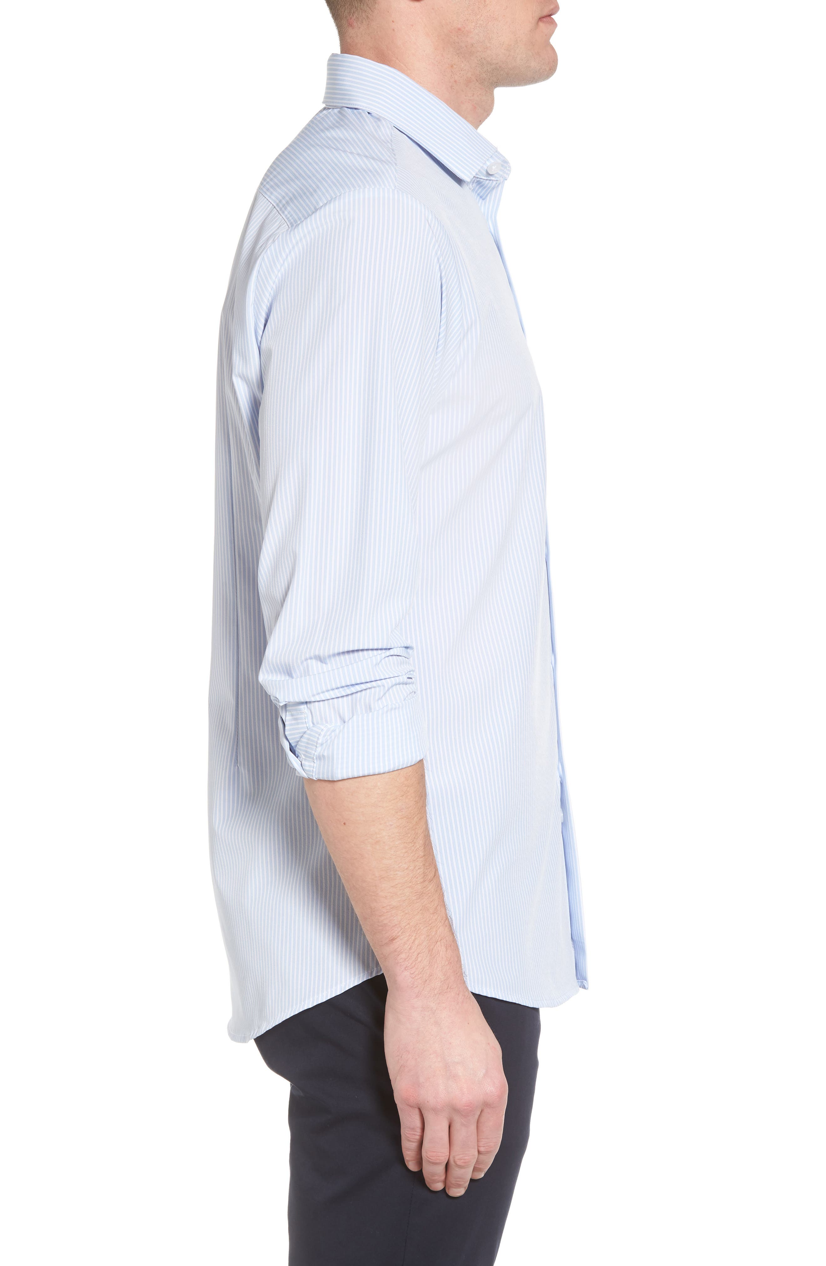 Caldwell Slim Fit Stripe Sport Shirt,                             Alternate thumbnail 3, color,                             455