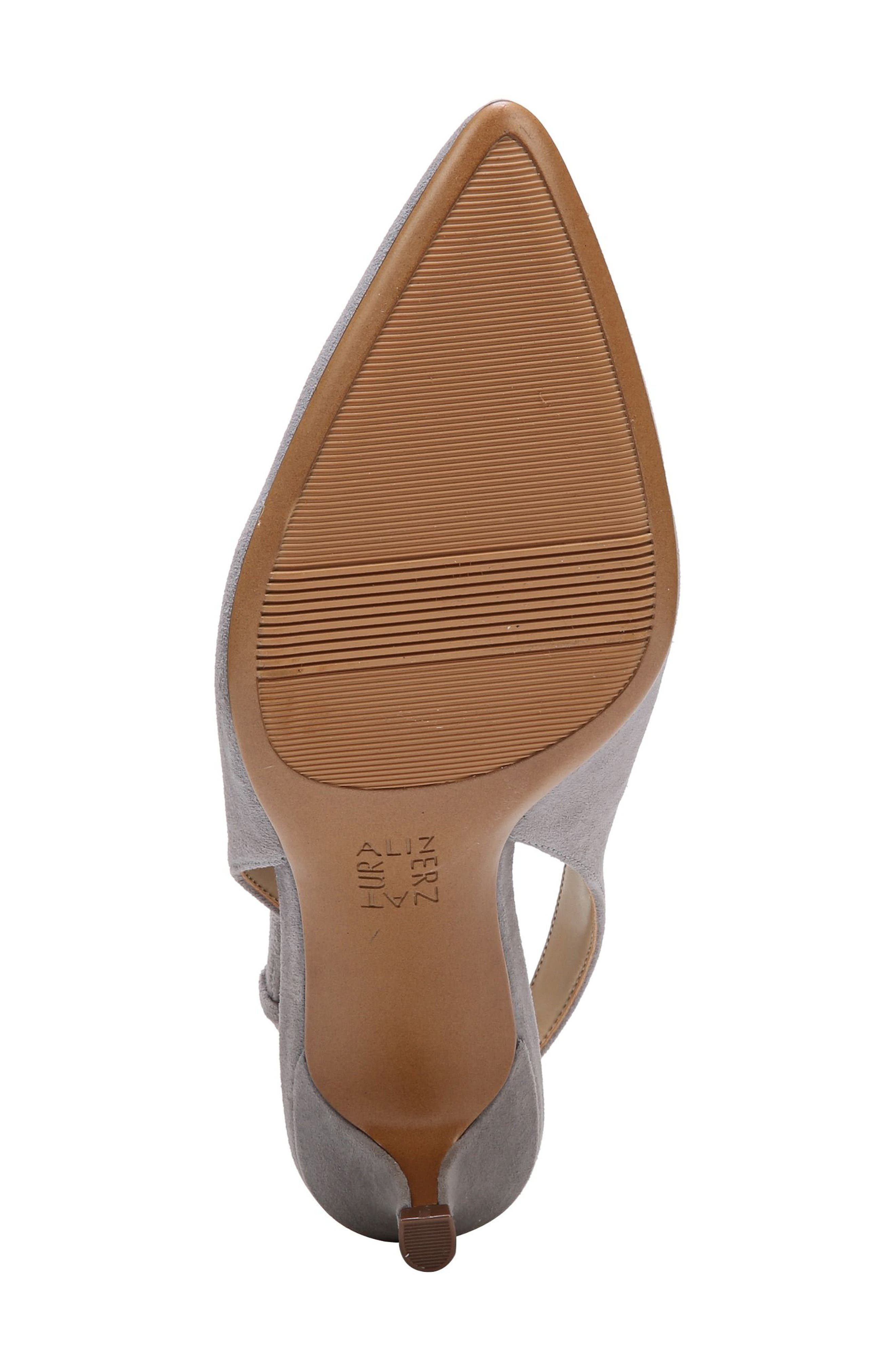 Slingback Pump,                             Alternate thumbnail 6, color,                             GREY SUEDE