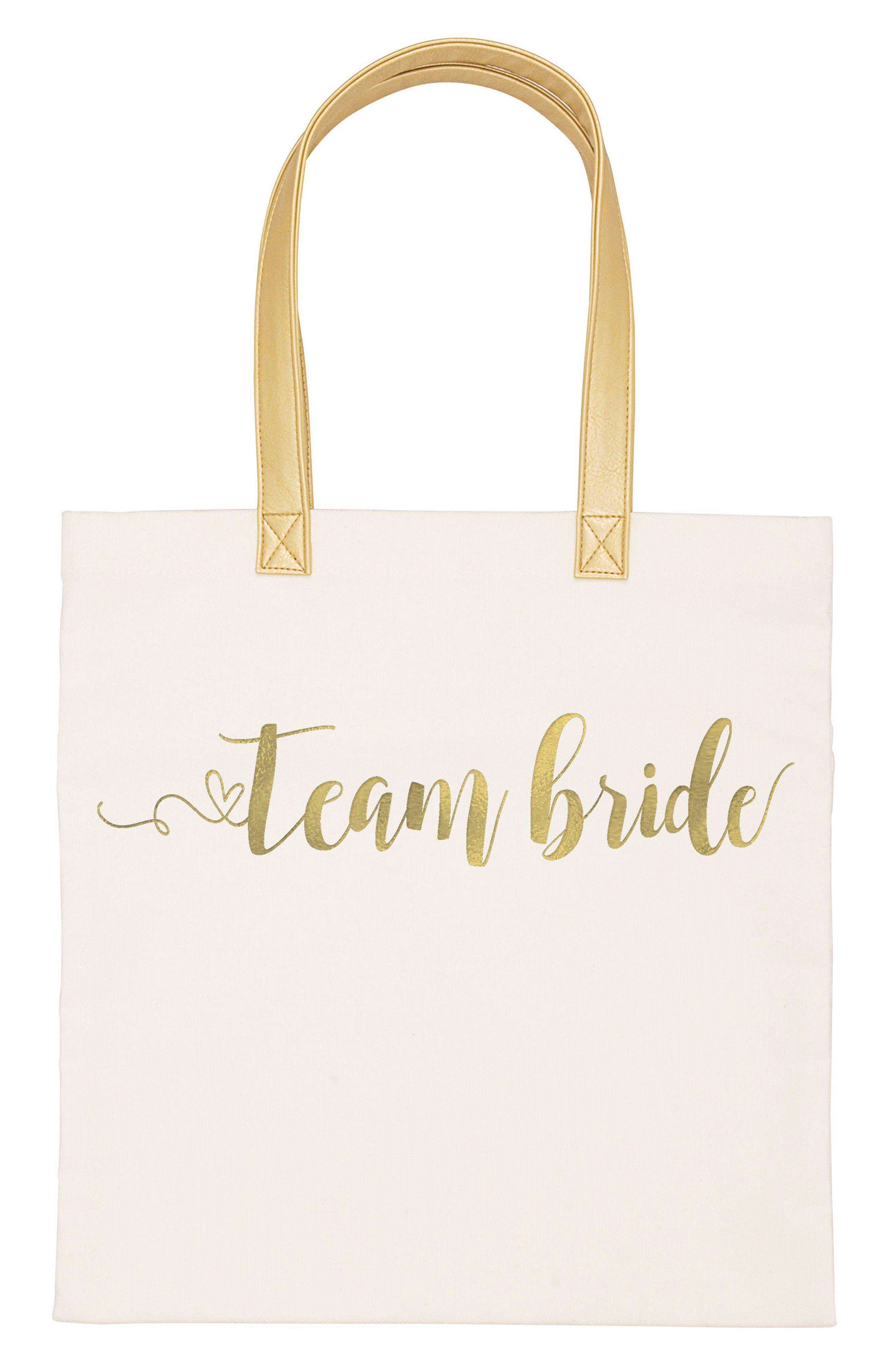 Team Bride Canvas Tote,                             Main thumbnail 2, color,