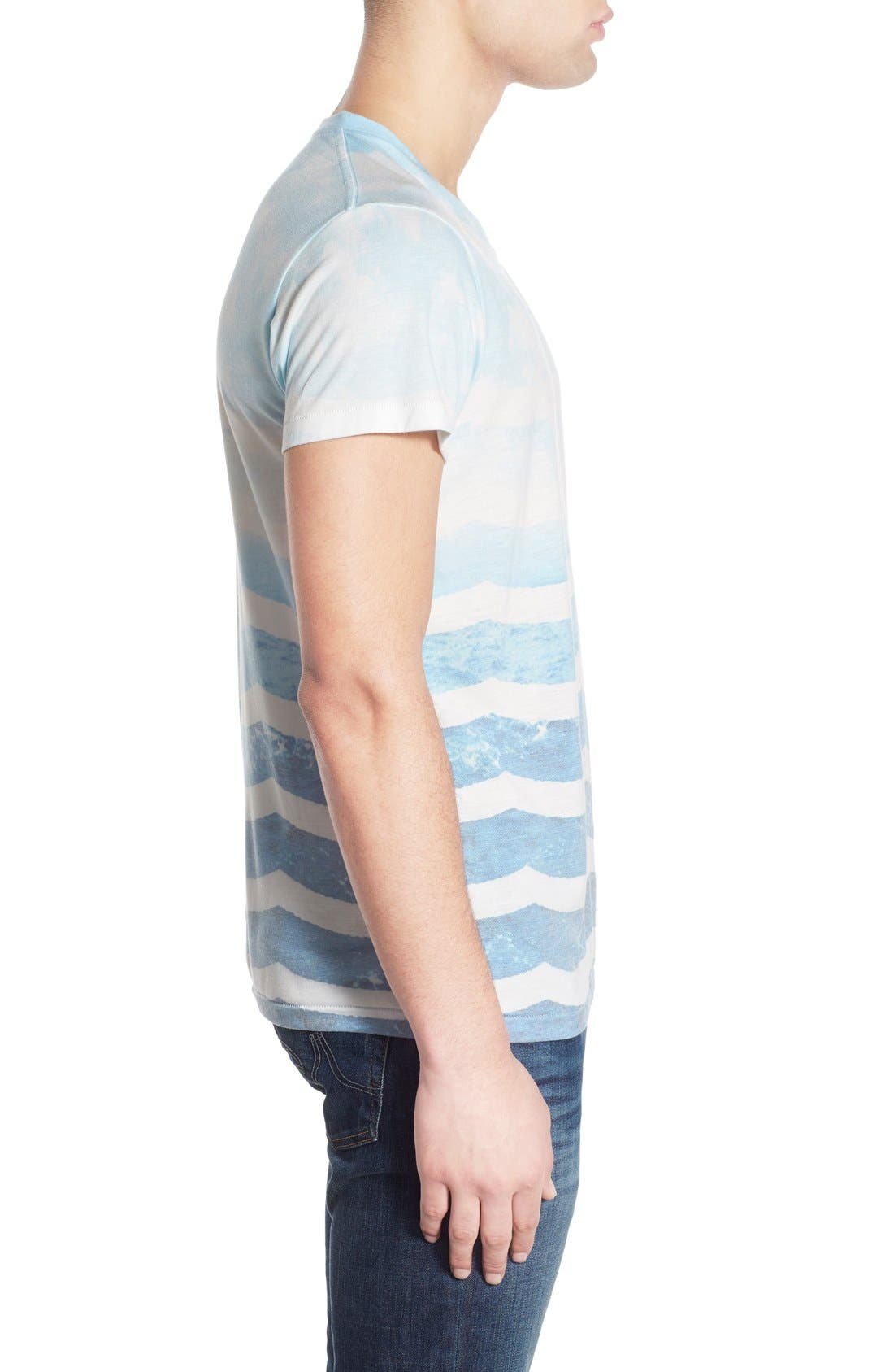 SOL ANGELES,                             'Marine Layer' V-Neck T-Shirt,                             Alternate thumbnail 3, color,                             482