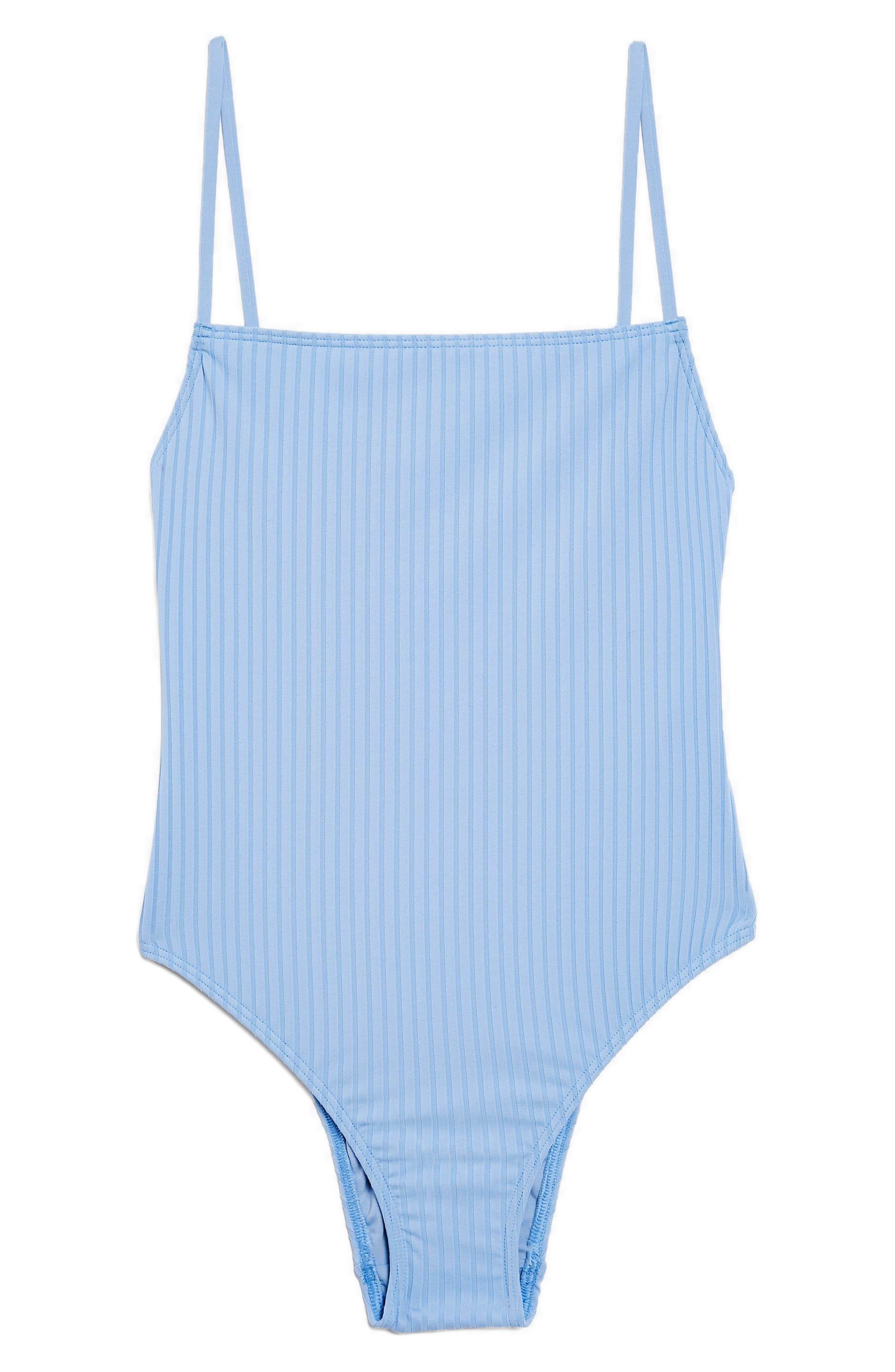 Straight Ribbed One-Piece Swimsuit,                             Alternate thumbnail 2, color,                             400