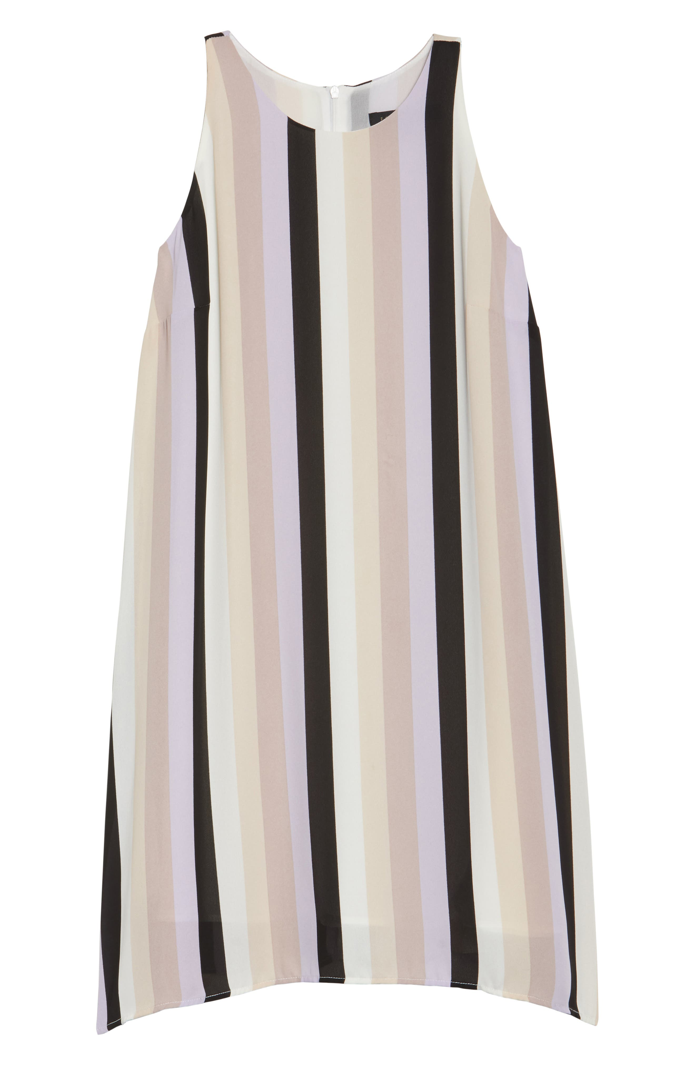 Stripe A-Line Dress,                             Alternate thumbnail 6, color,                             ORCHID COMBO