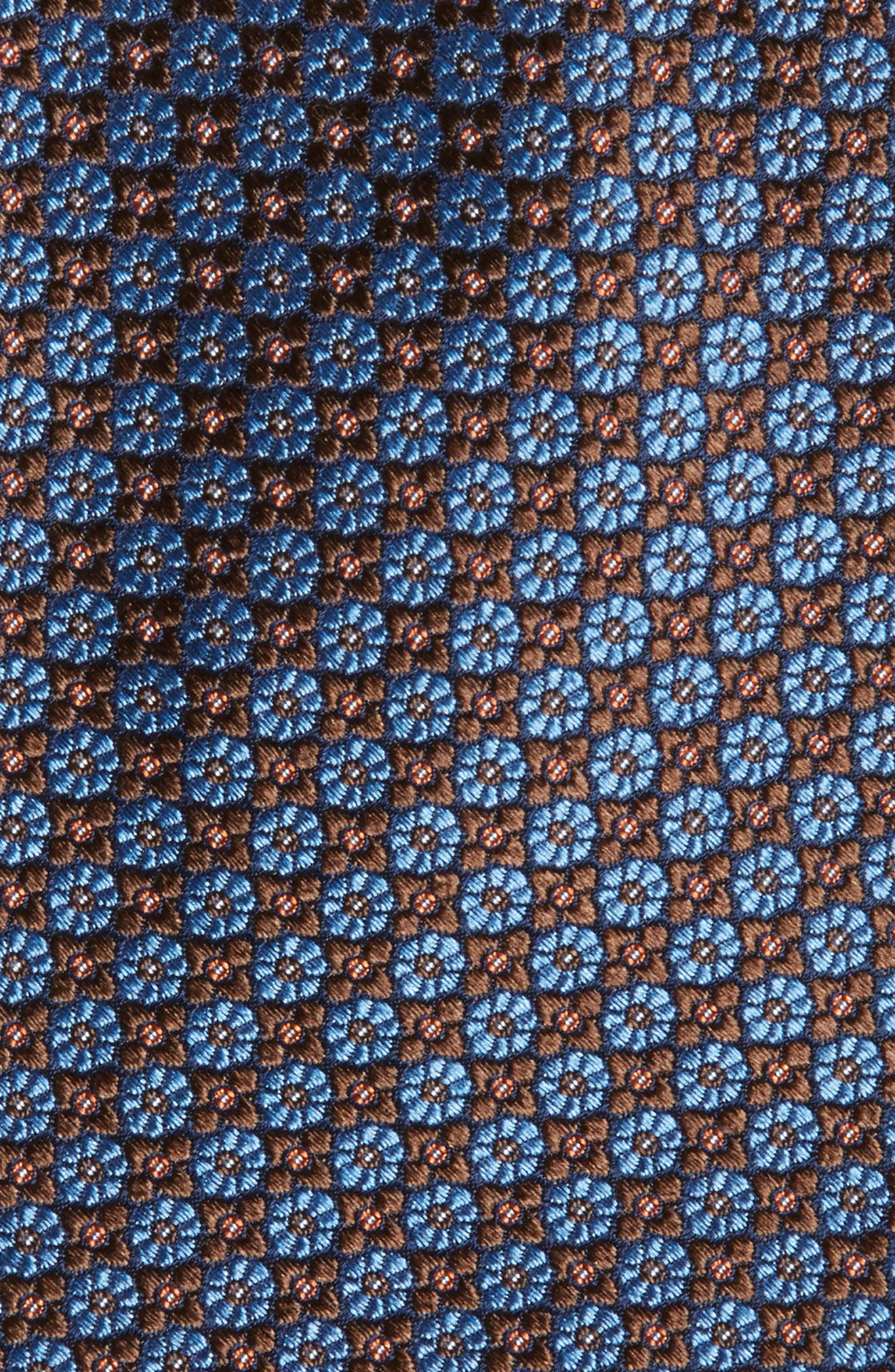 Malone Neat Silk Tie,                             Alternate thumbnail 2, color,                             BROWN